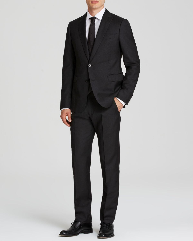 Collezioni wool suit slim fit in black for men nero black lyst