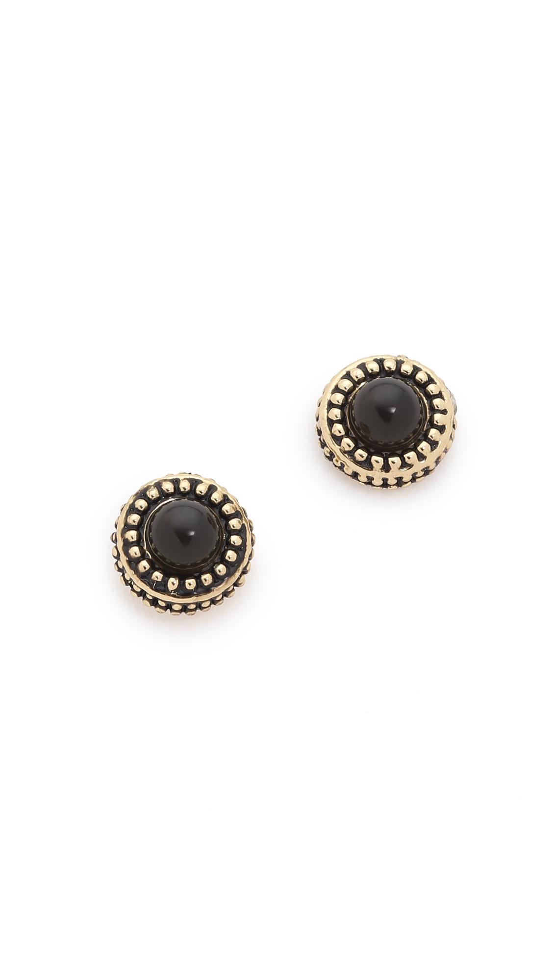 house of harlow 1960 cuzco stud earrings cat s eye gold