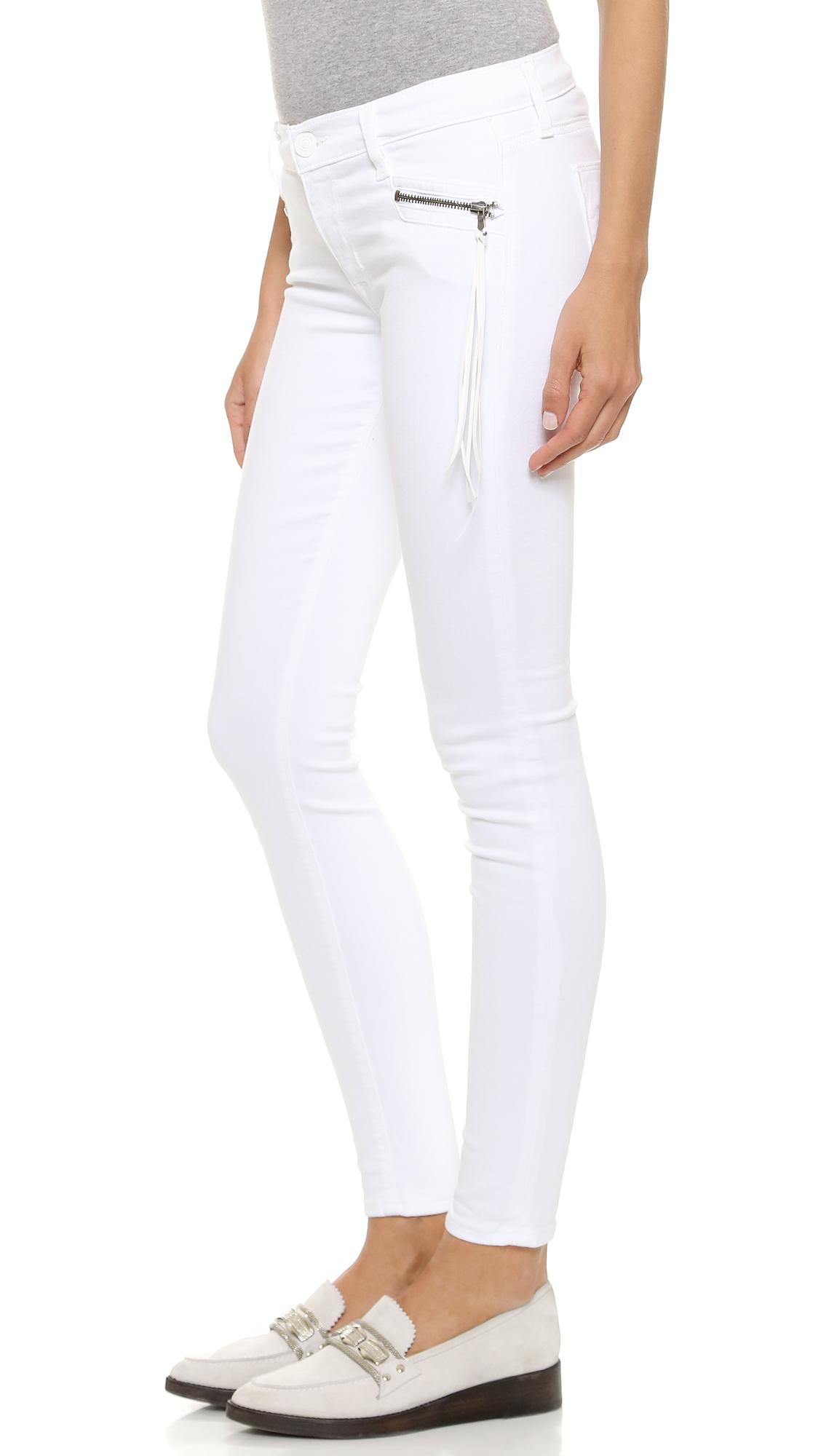 Hudson jeans Spark Super Skinny Jeans - White 2 in White | Lyst