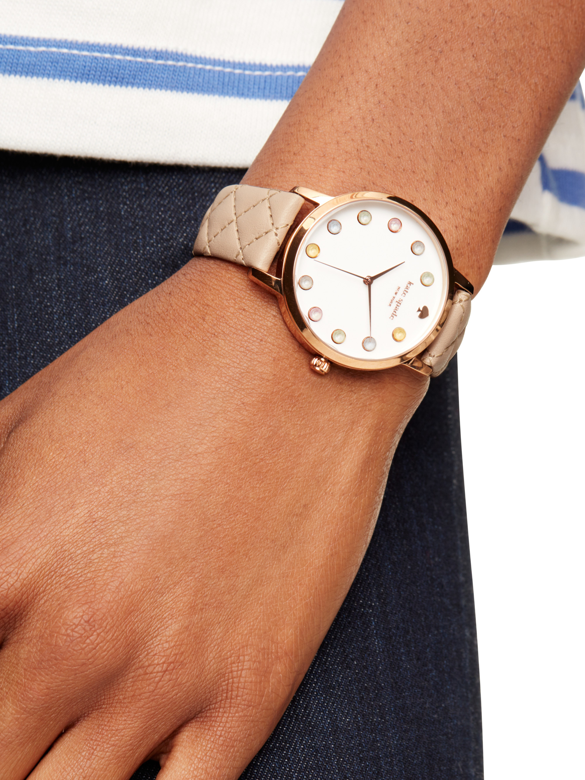 ff9fccc9c81 Kate Spade Vachetta Ice Cream Metro Watch in Pink - Lyst