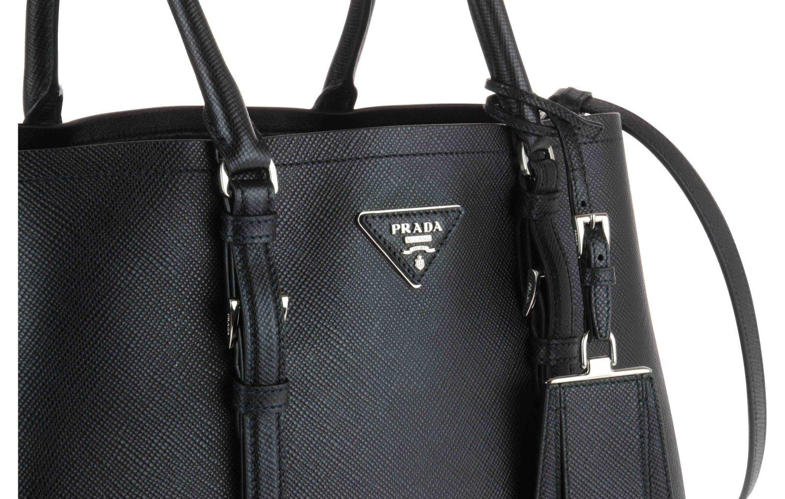 Prada Borsa Shopping In Pelle Saffiano in Black (Nero 1) | Lyst