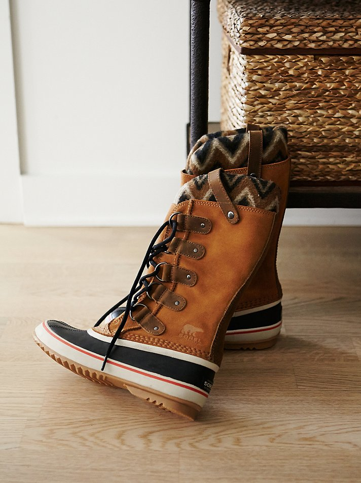 64396036e034 Lyst - Free People Sorel Womens Joan Arctic Knit Weather Boot in Brown