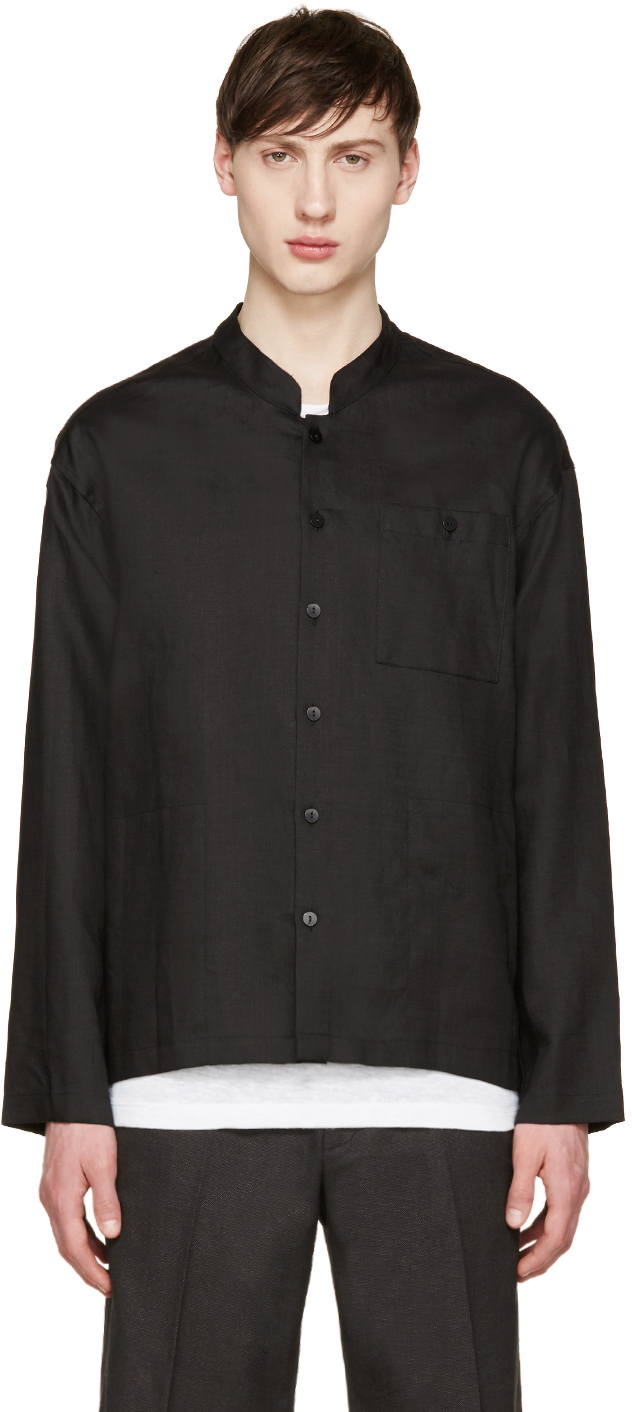 Lyst - Fanmail Black Linen Shirt in Black for Men
