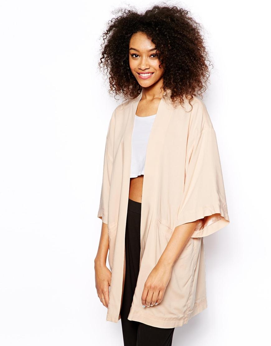 Monki Oversized Kimono Jacket in Natural | Lyst