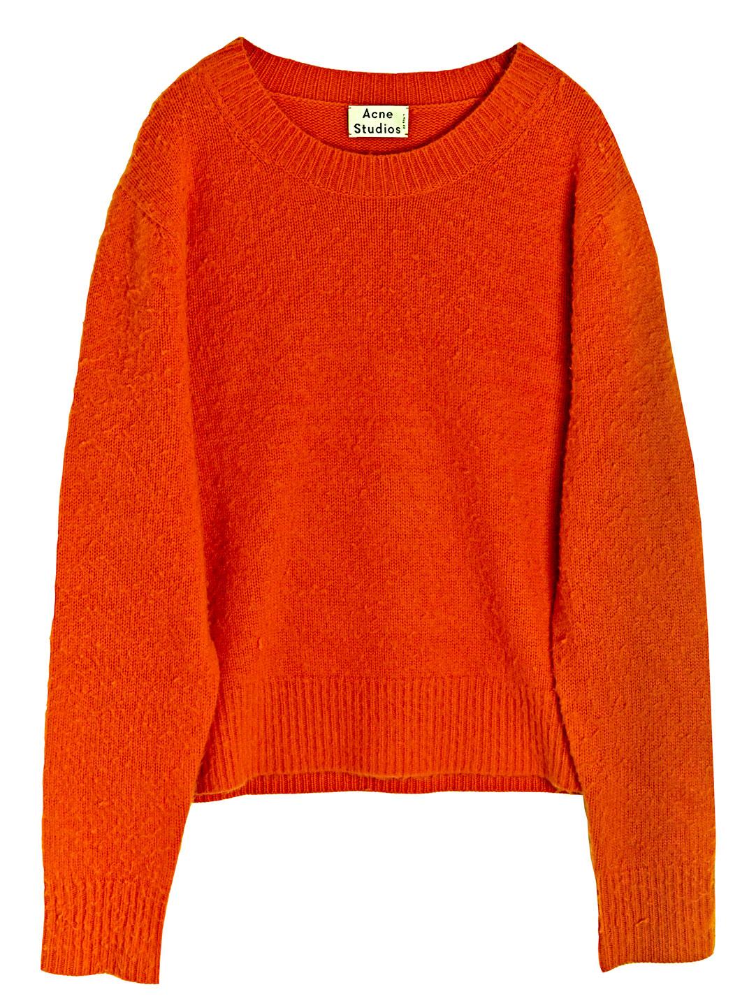 Acne studios Peele Sweater in Orange for Men | Lyst