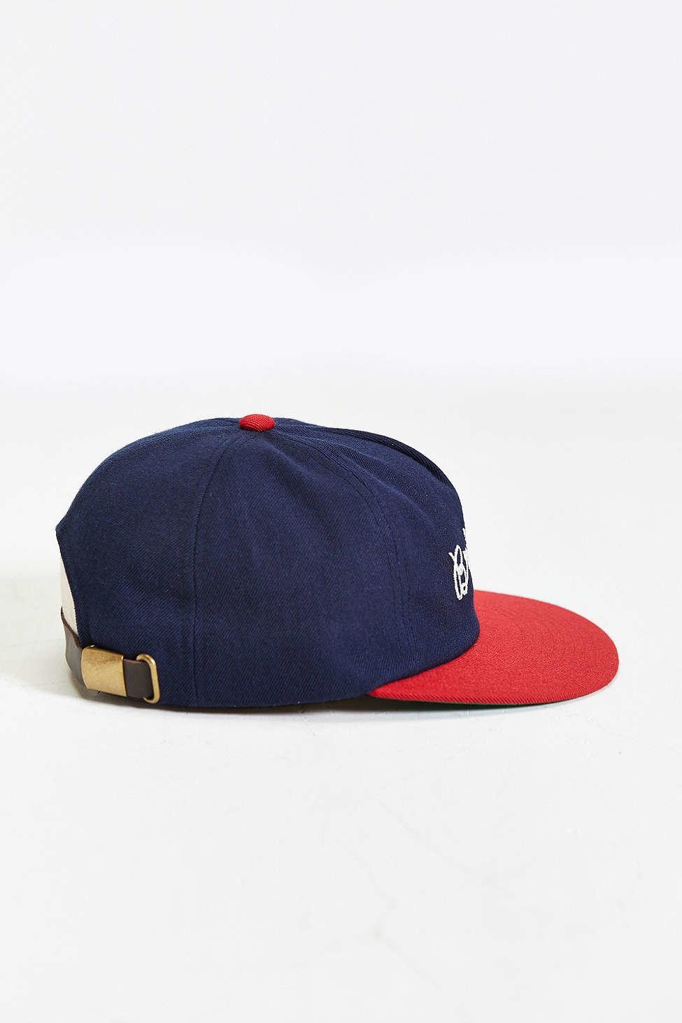 Brixton Robinson Strapback Hat in Blue - Lyst d9832c1c2d0