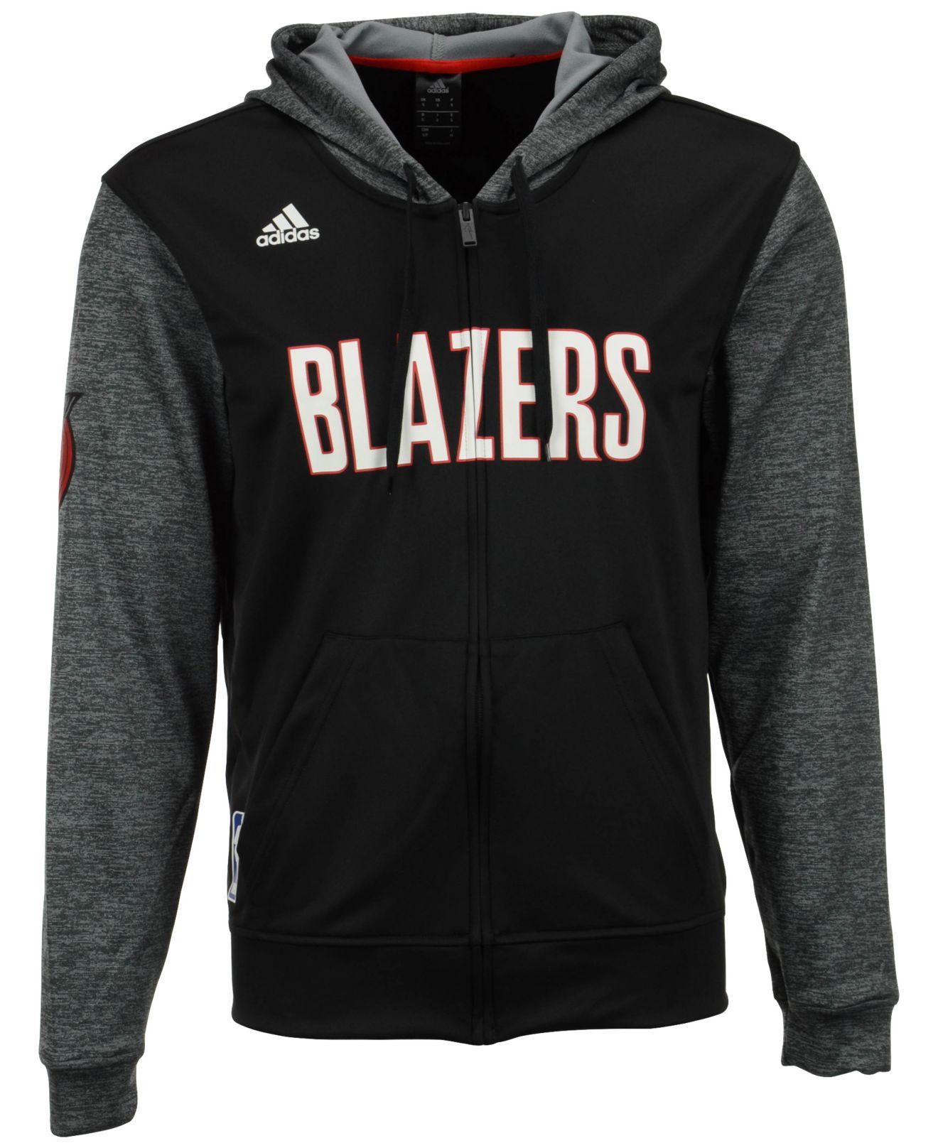 Portland Blazers Game: Adidas Men's Portland Trail Blazers Pre Game Full