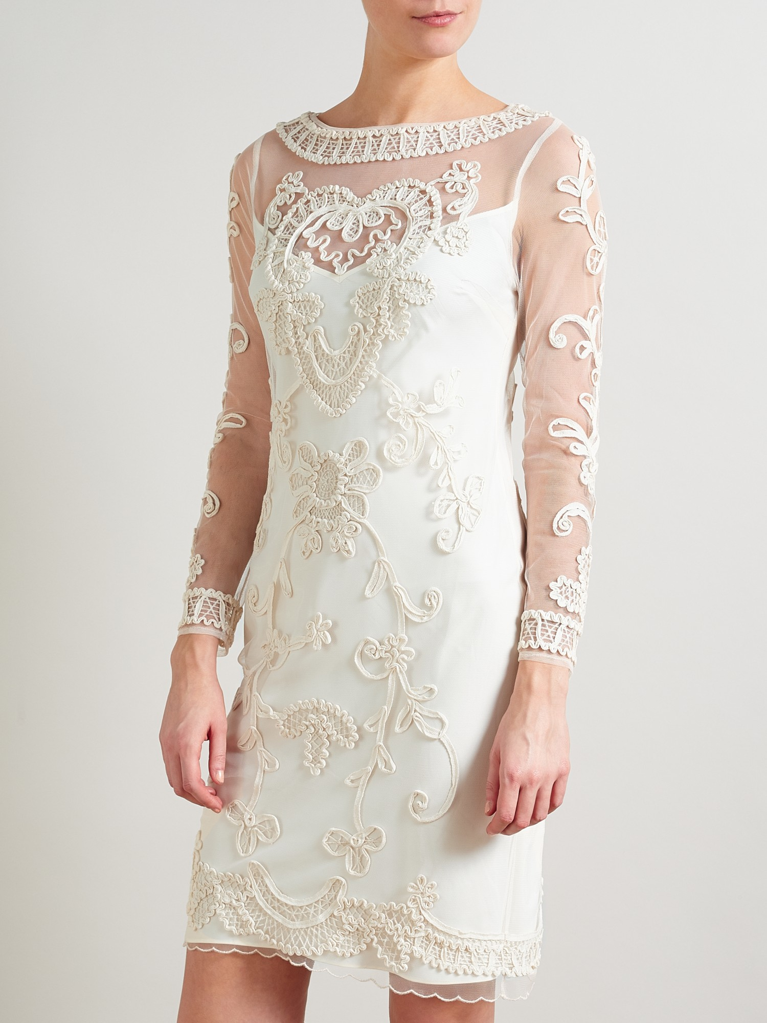 e9b4da1f3cd50 Somerset by Alice Temperley Lace Dress in Natural - Lyst