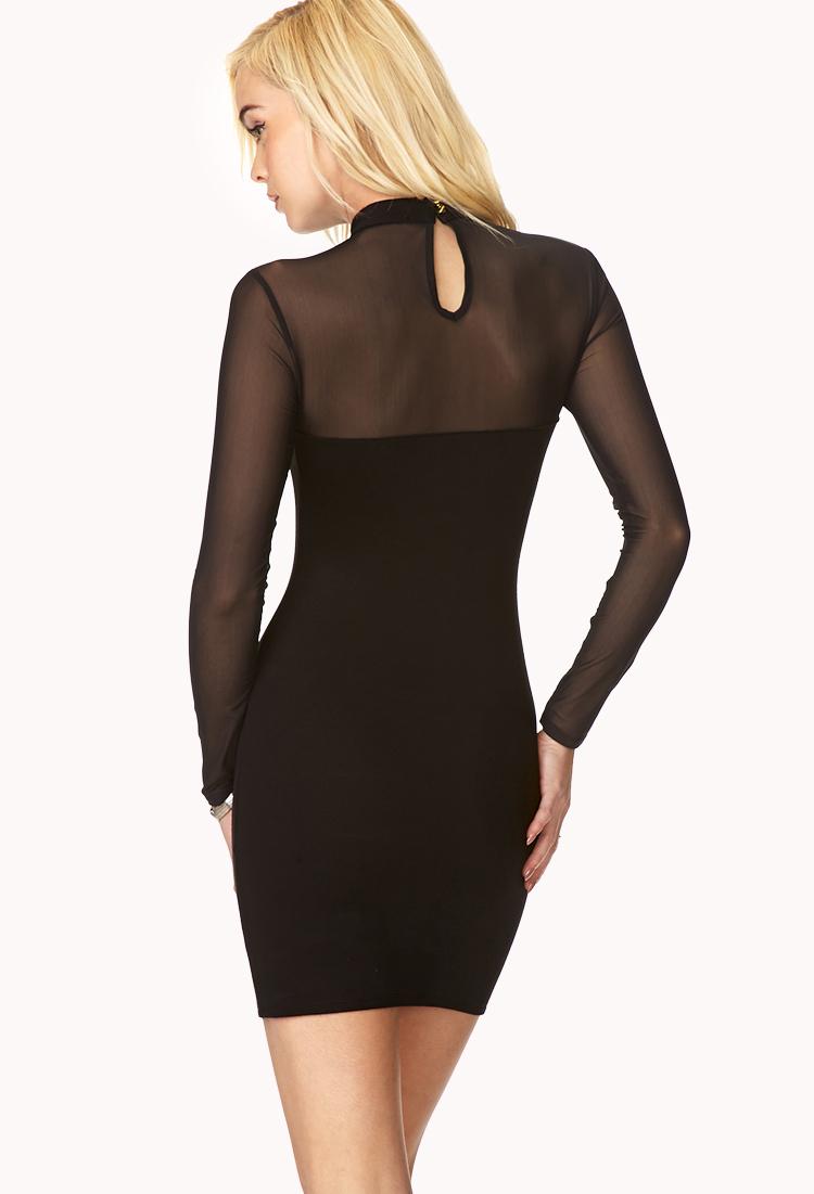 Forever 21 Posh High Neck Dress In Black Lyst