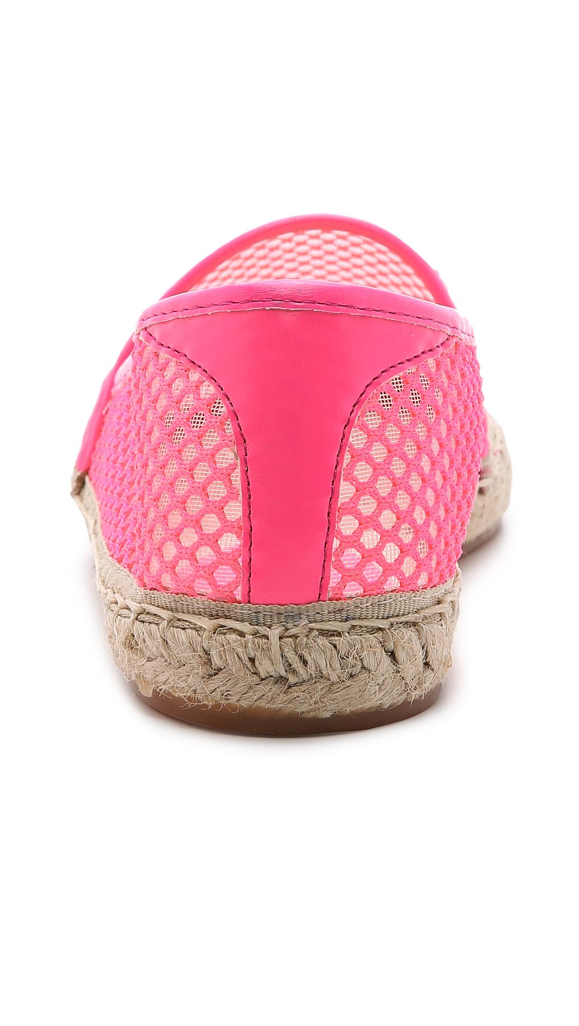 Lyst Rebecca Minkoff Ginny Mesh Espadrilles Neon Pink