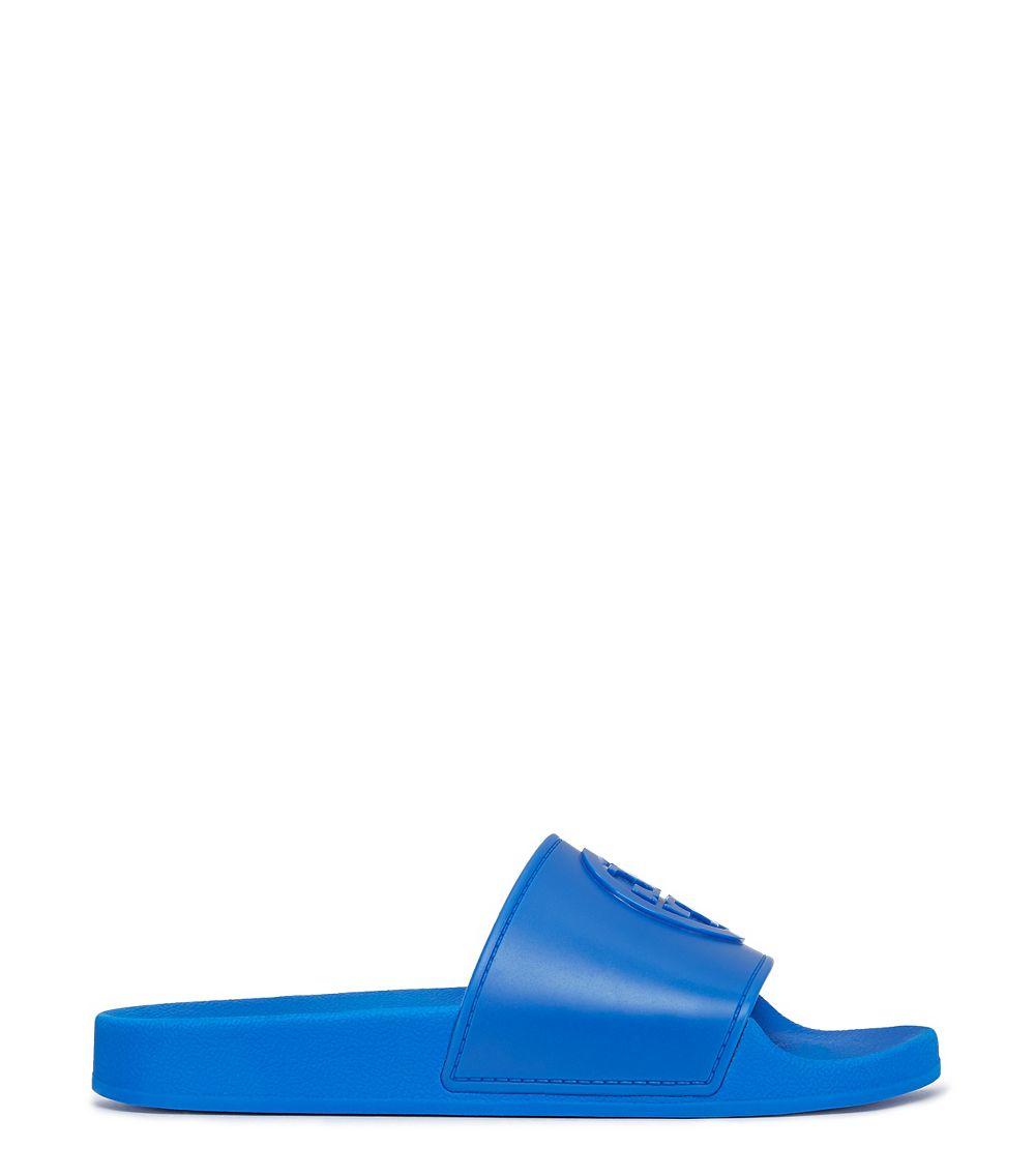 73ba9dd91 Tory Burch Jelly Flat Slide in Blue - Lyst