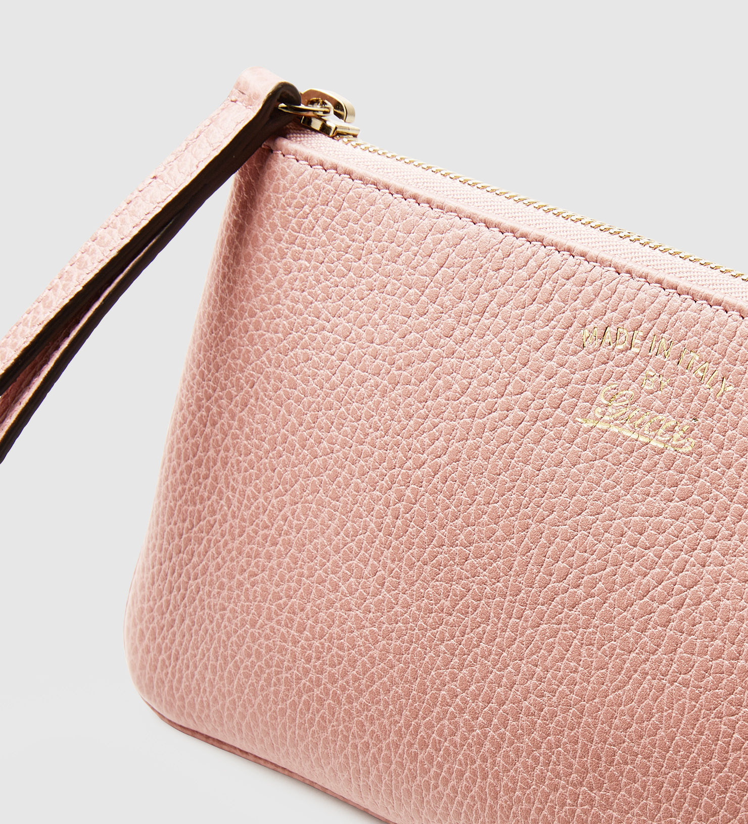 71d5517af72 Gucci Swing Leather Wristlet in Pink - Lyst