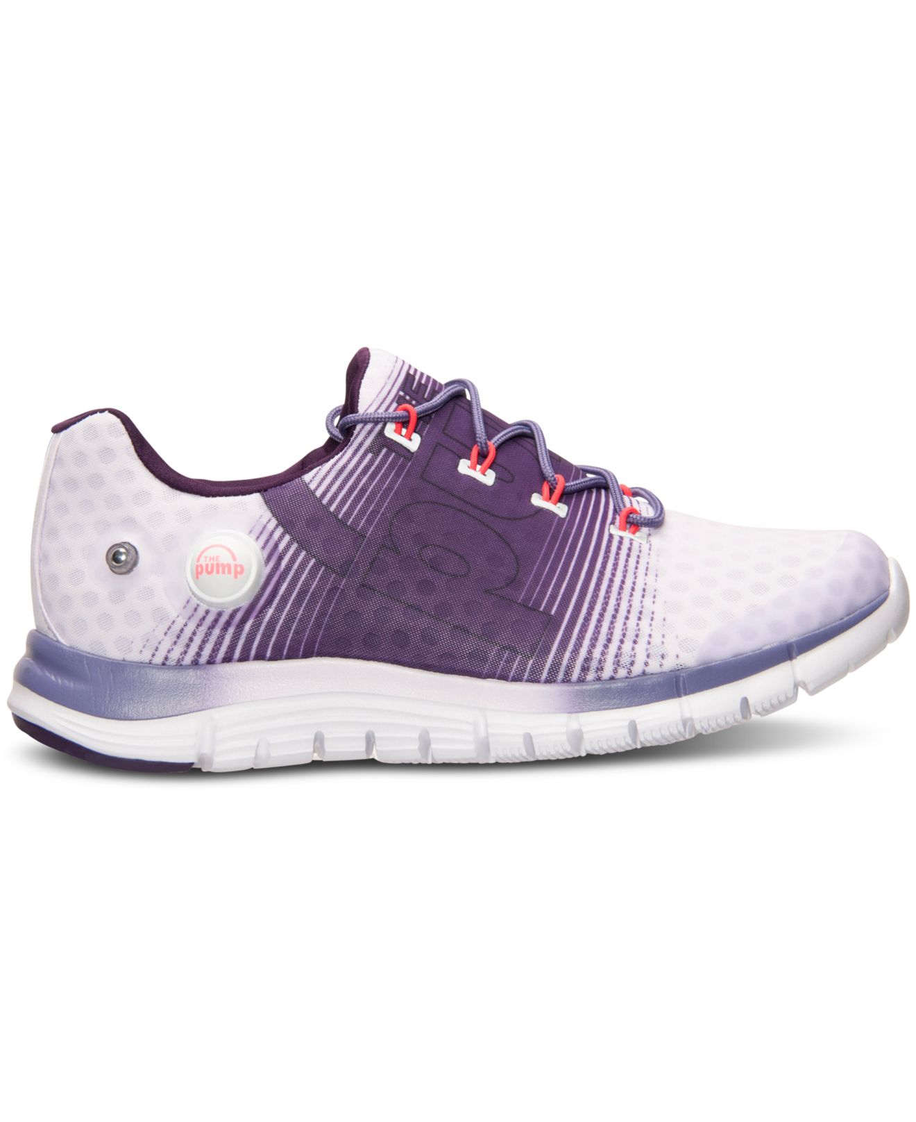 Lyst - Reebok Women s Zpump Fusion Running Sneakers From Finish Line ... e5e865bf3