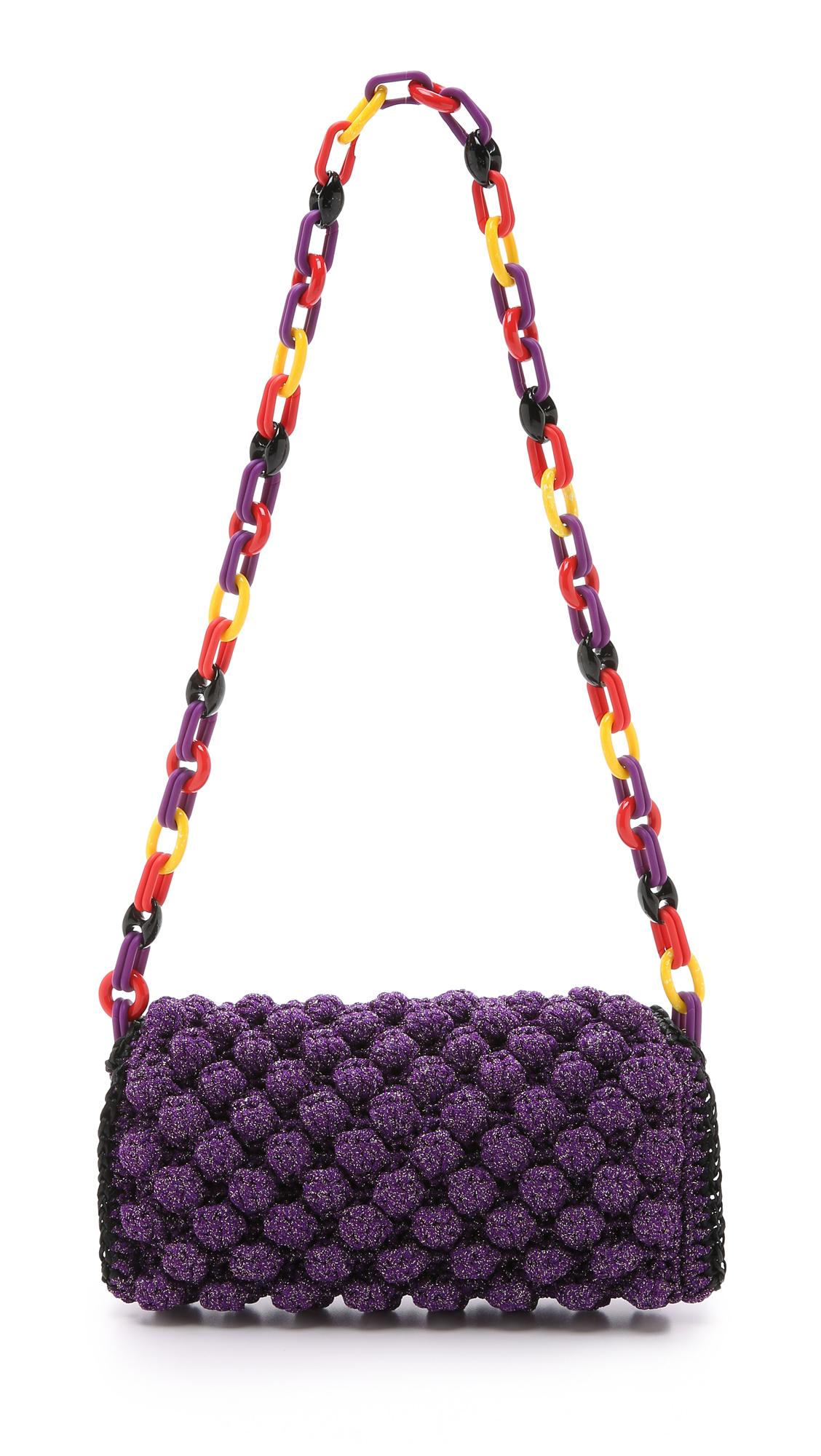 M missoni Raffia Knit Shoulder Bag
