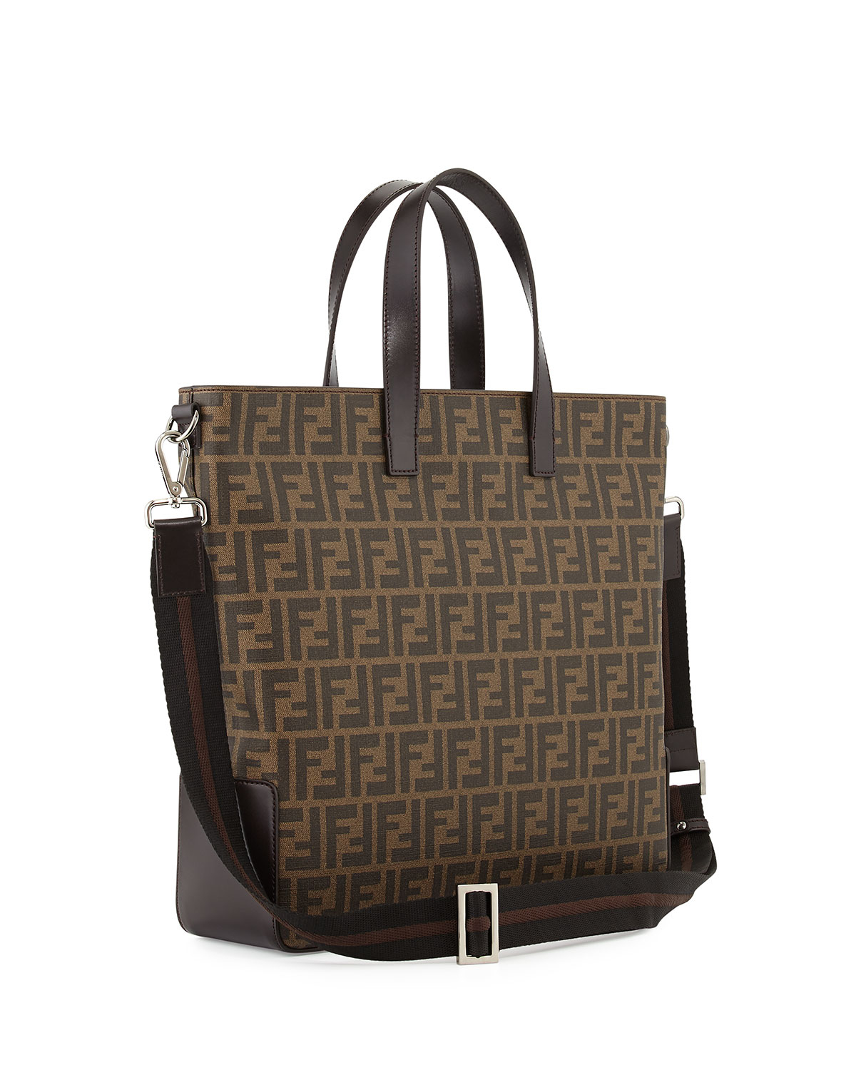 7205b01238b ... discount code for lyst fendi mens zucca canvas tote bag in brown 74b7a  b1fd9 ...