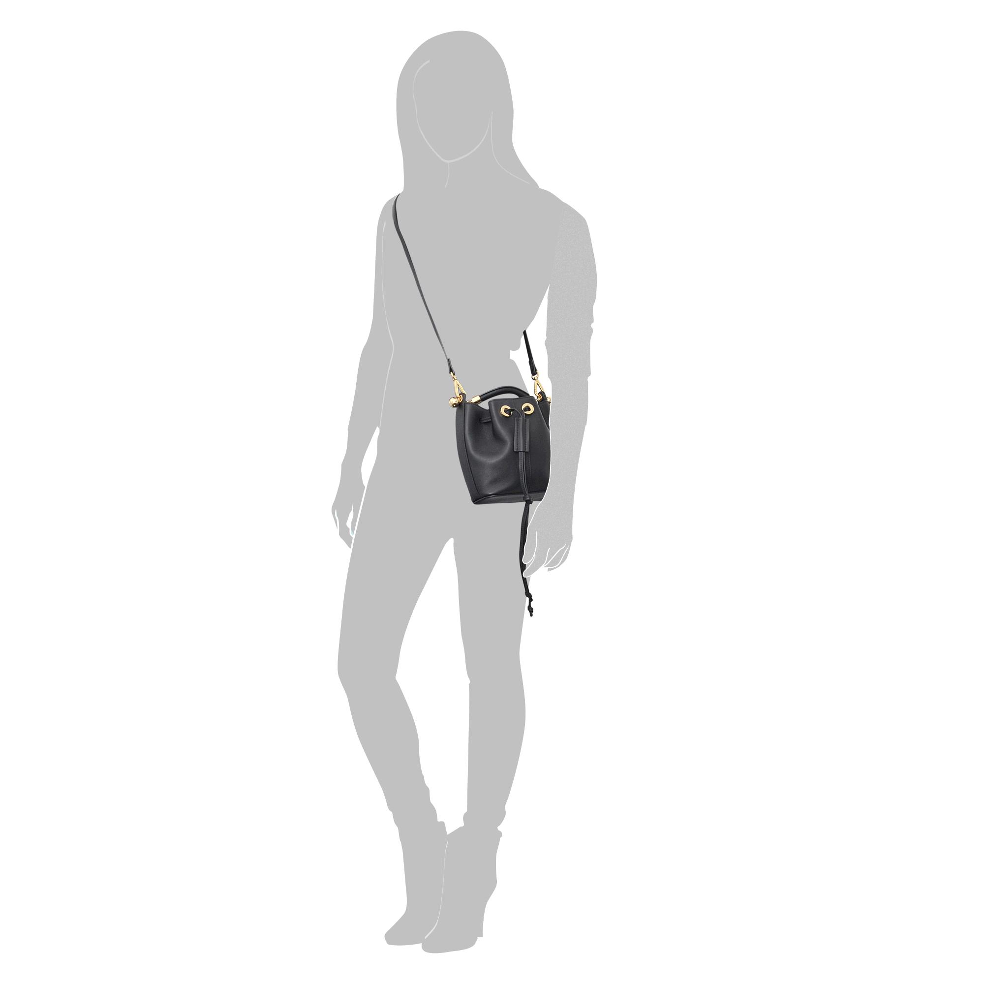 chloe black tassel medium gala bucket bag