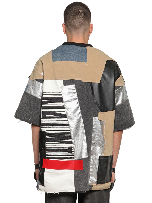 a6d200d7e589 Lyst - KTZ Oversize Fabric Patchwork Sweatshirt for Men