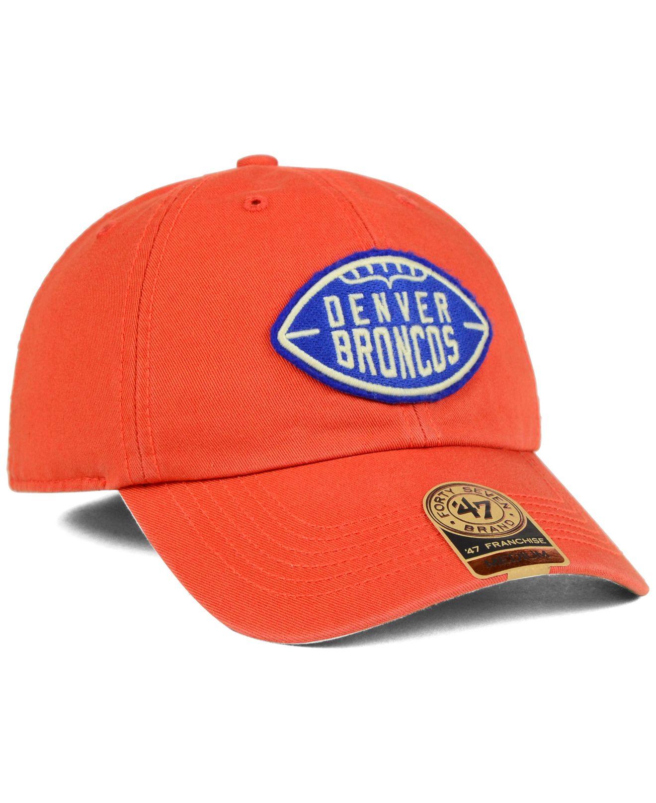 283008f2c2c85 Lyst - 47 Brand Denver Broncos Papa Franchise Cap in Orange for Men