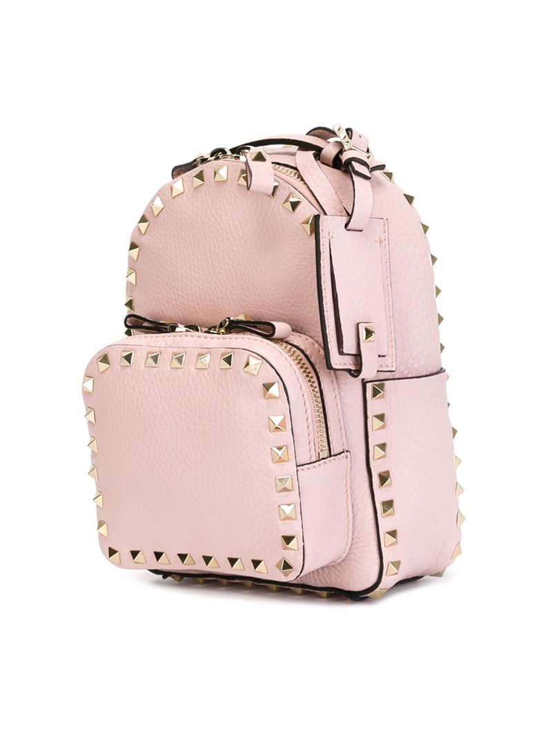 546b334a50 Valentino Small 'Rockstud' Backpack in Pink - Lyst