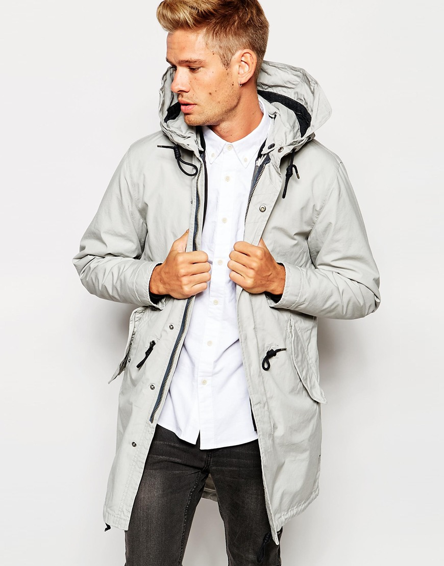 Selected Elected Homme Premium Parka With Removable Bomber Jacket ...