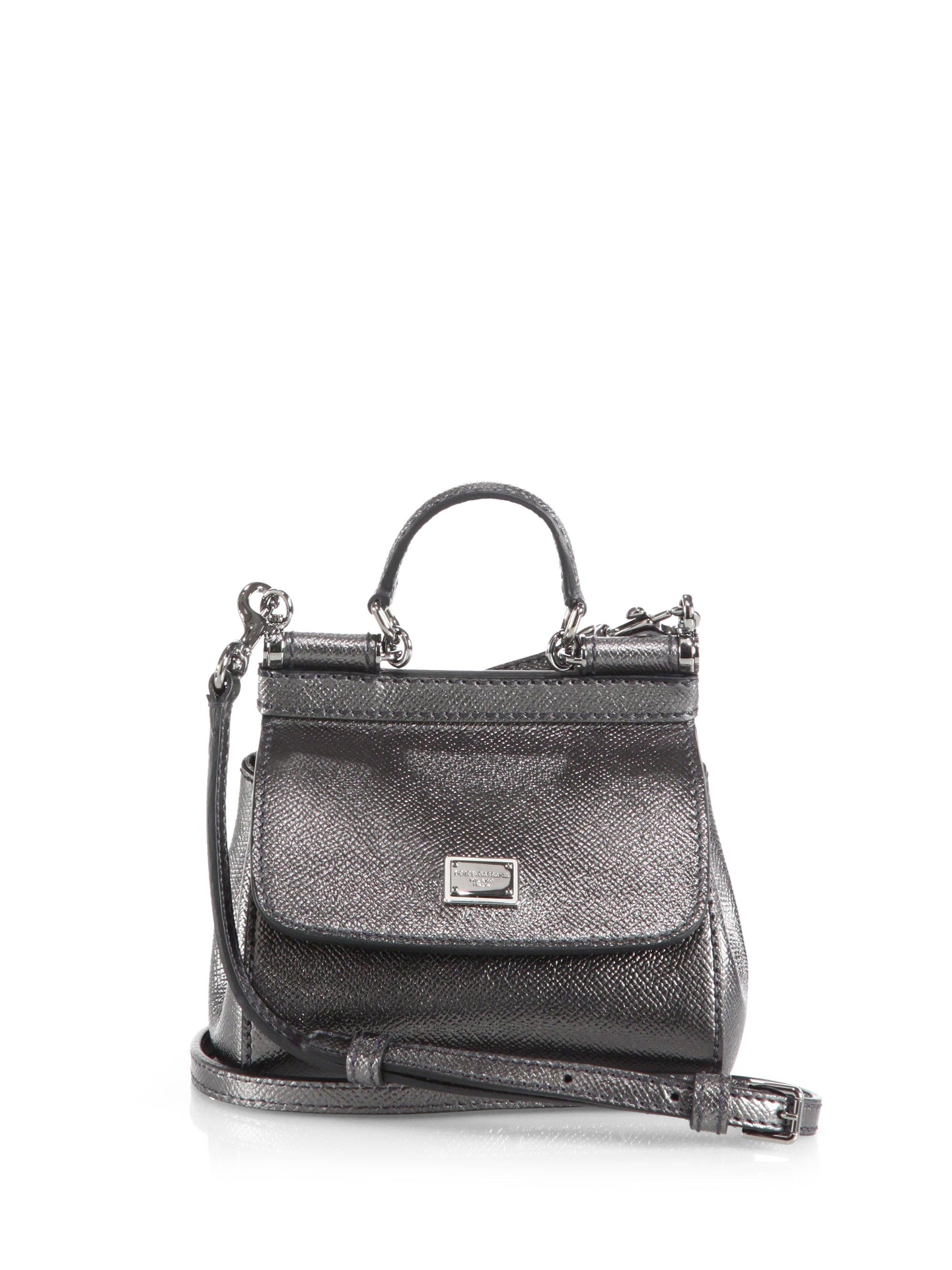 Dolce & Gabbana Sicile Mini-sac À Bandoulière Métallique Footlocker Sortie Vente Offres 2018 Nouvelle Ordre Pré Sortie WB9I47