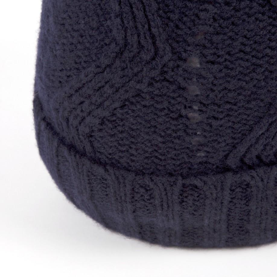 Paul smith Navy Optical Pattern Knitted Lambswool Bobble ...