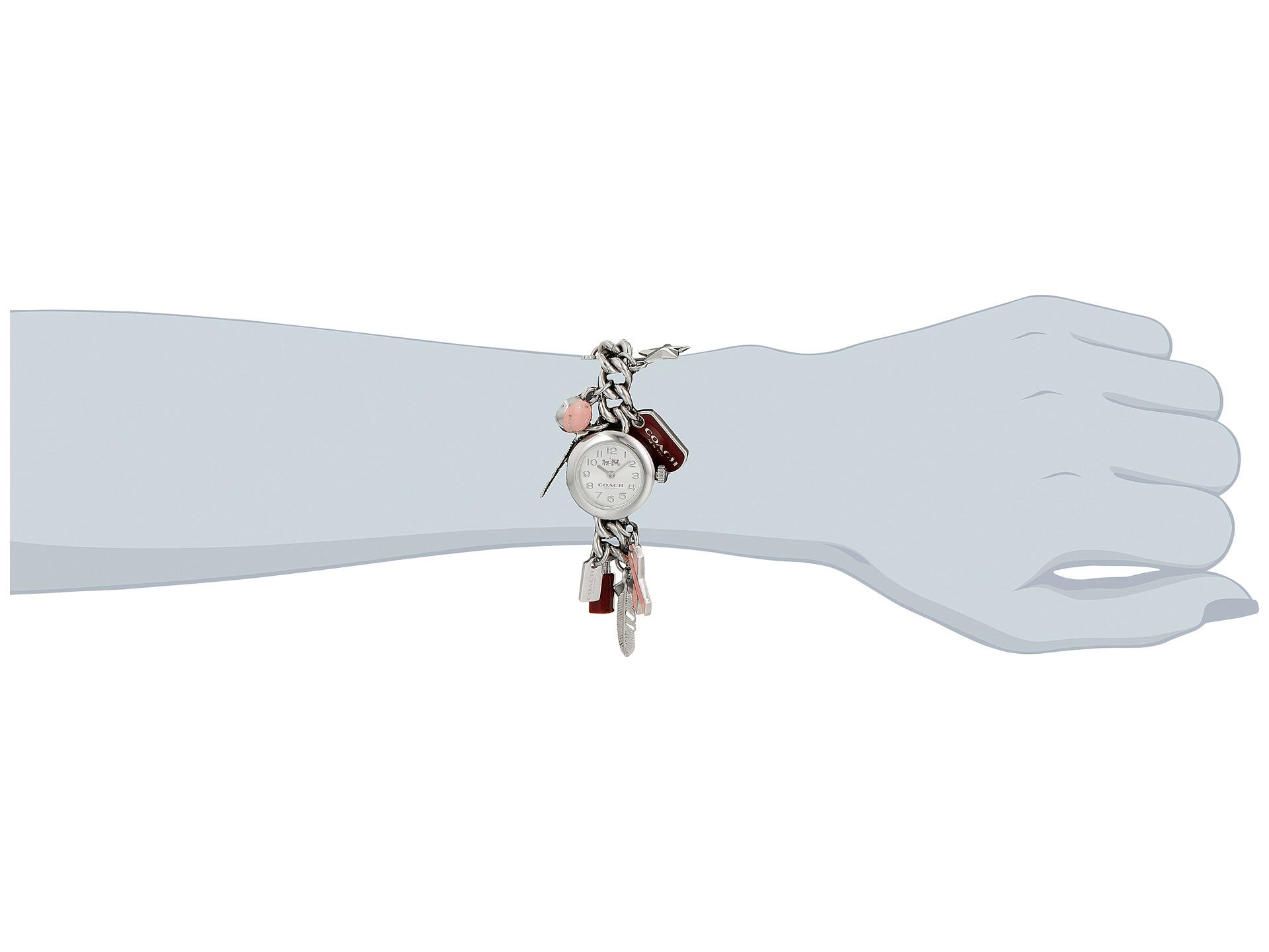 Lyst Coach Bca 23mm Charm Link Bracelet Watch In Metallic