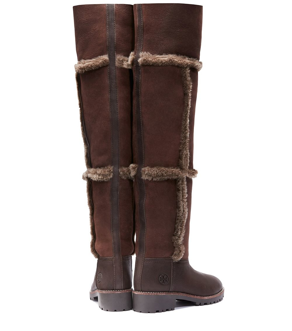 60ad0a1dc Lyst - Tory Burch Talouse High Shearling Boot in Brown