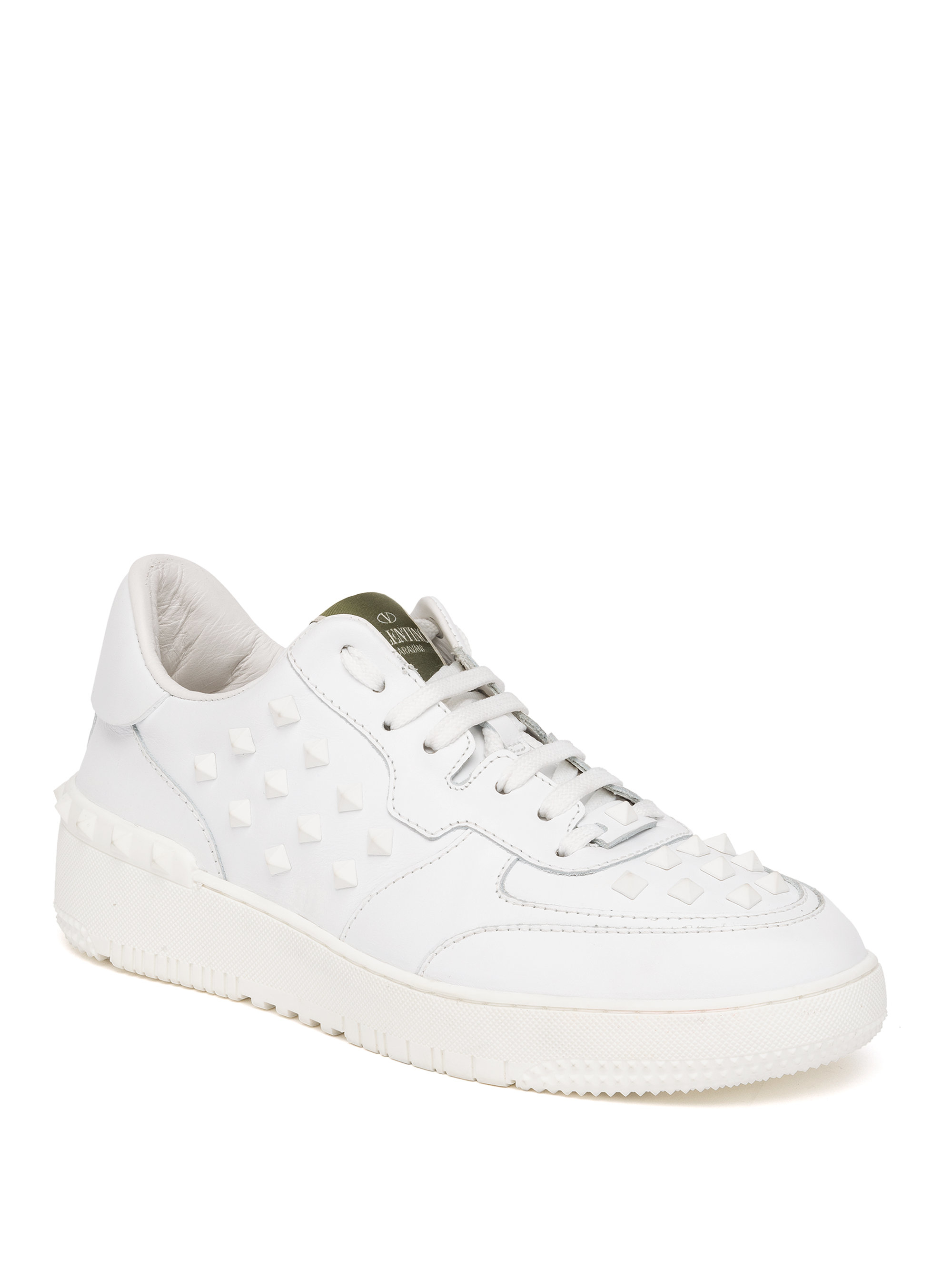 09e4485fab4d Lyst - Valentino Rock Be Studded Low-Top Sneakers in White for Men