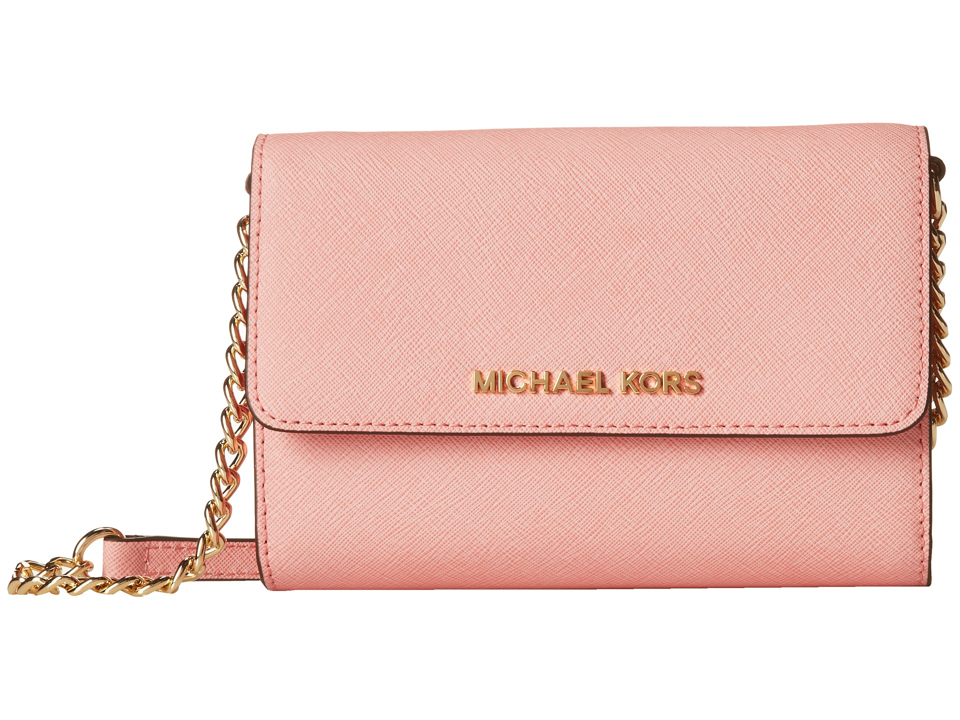 3696e04a72cd8 Lyst - MICHAEL Michael Kors Jet Set Travel Large Phone Crossbody in Pink