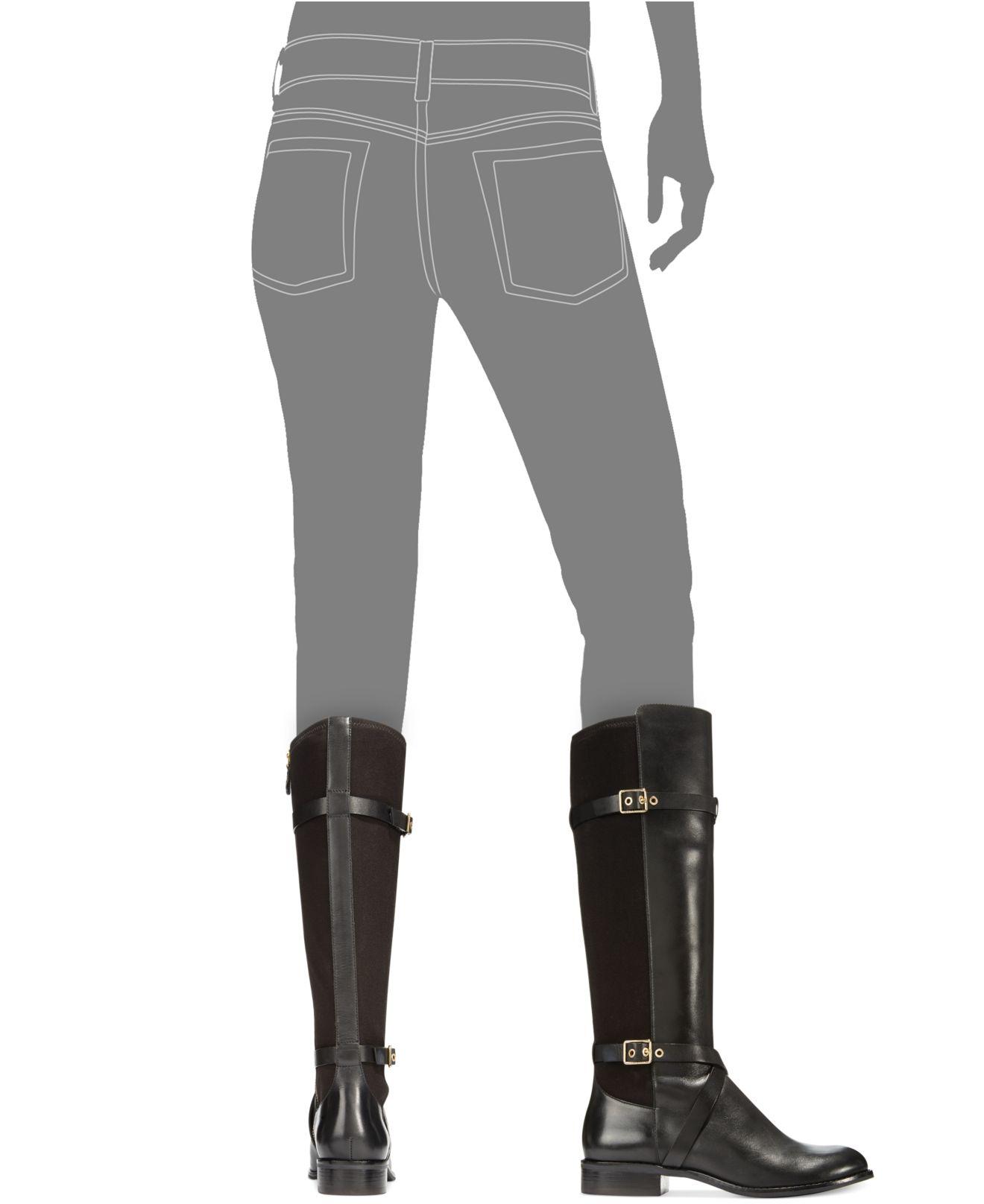 6d3c4c3656 Cole Haan Women'S Dorian Stretch Boots in Black - Lyst