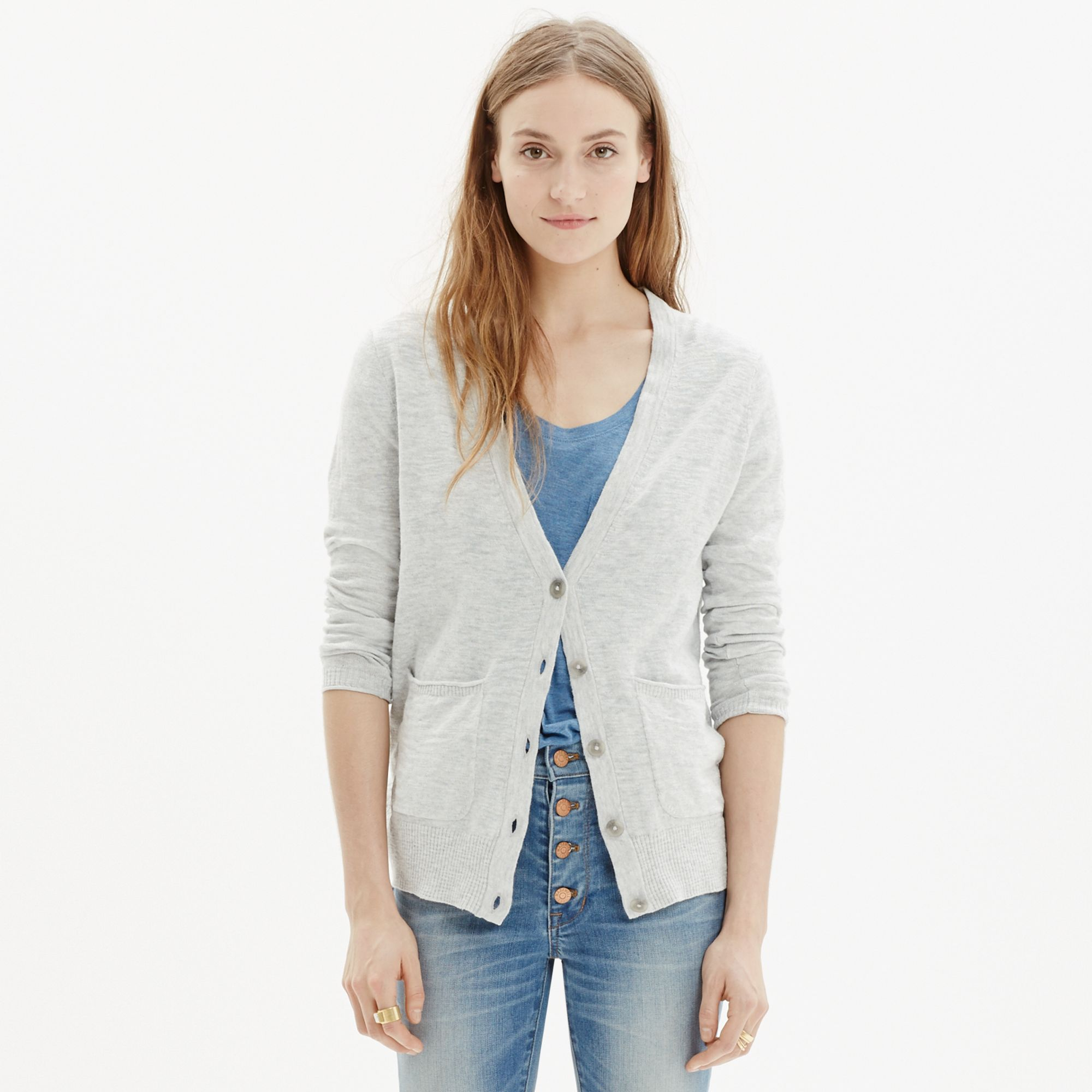 Madewell Graduate Cardigan Sweater in Gray | Lyst