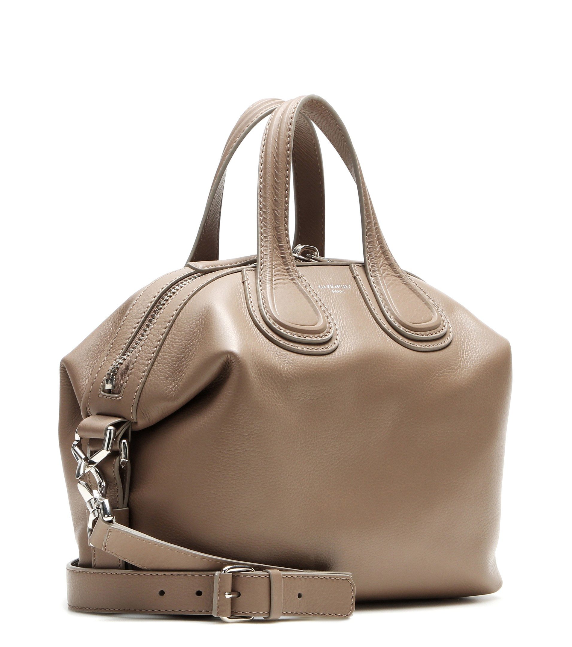 49279e32cb62 Givenchy Nightingale Small Leather Tote in Natural - Lyst