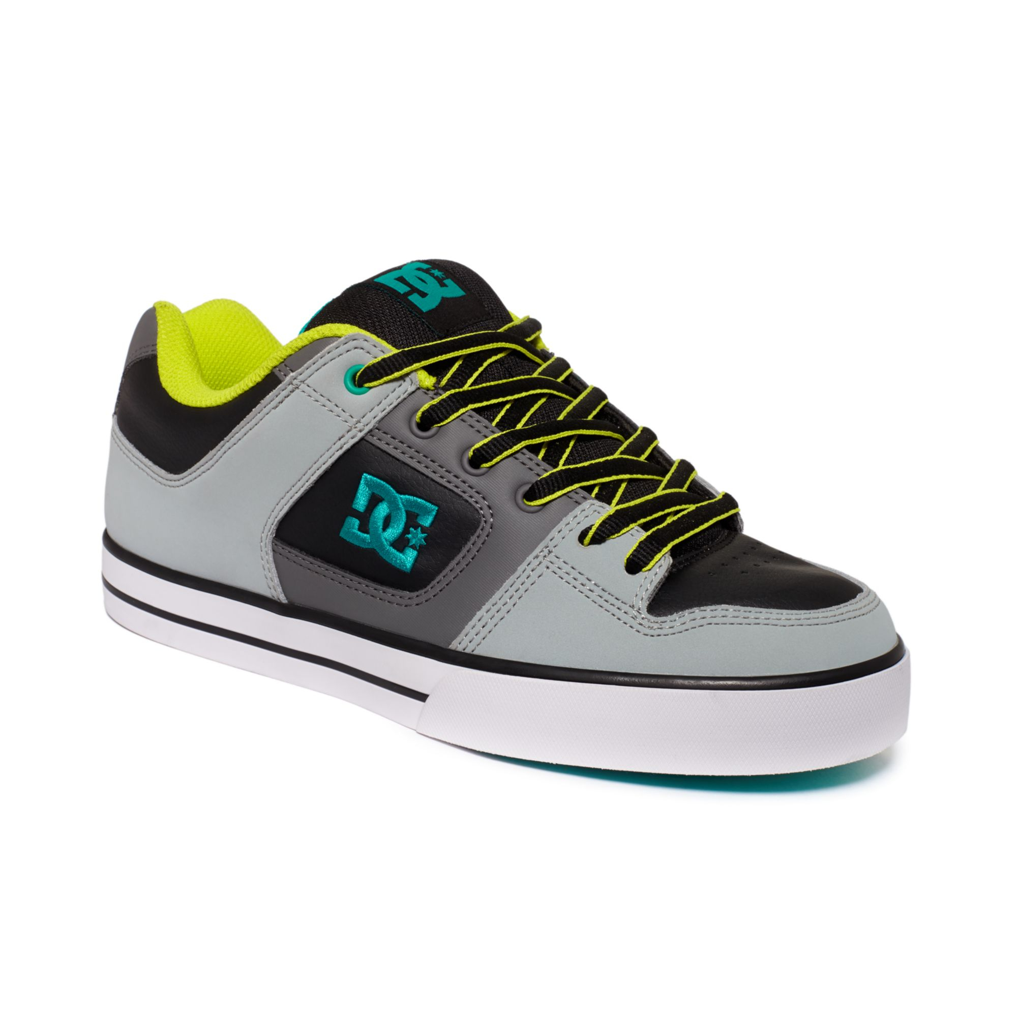 dc shoes pure sneakers in gray for men light grey mantis lyst. Black Bedroom Furniture Sets. Home Design Ideas