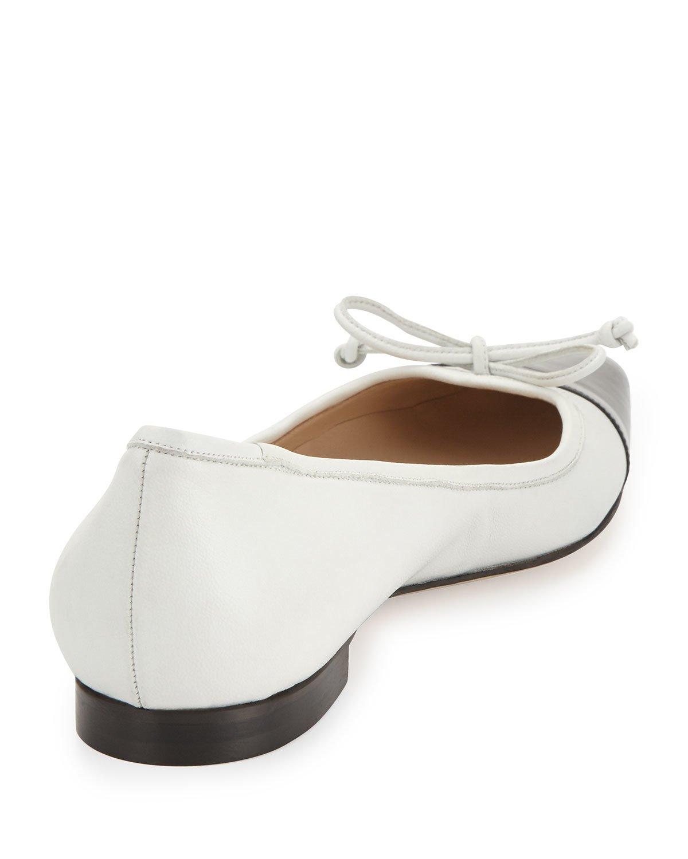 d77f8e19e746 ... authentic lyst manolo blahnik wendy pointed toe ballerina flat in black  dc7e8 d4e09