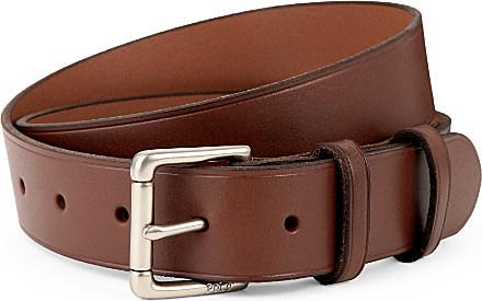 7a843d5800dc1 Ralph Lauren David Leather Belt - For Men in Gray for Men - Lyst