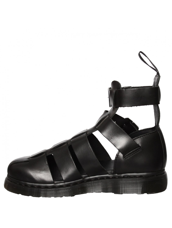 Dr Martens Geraldo Ankle Strap Sandal Black In Black For