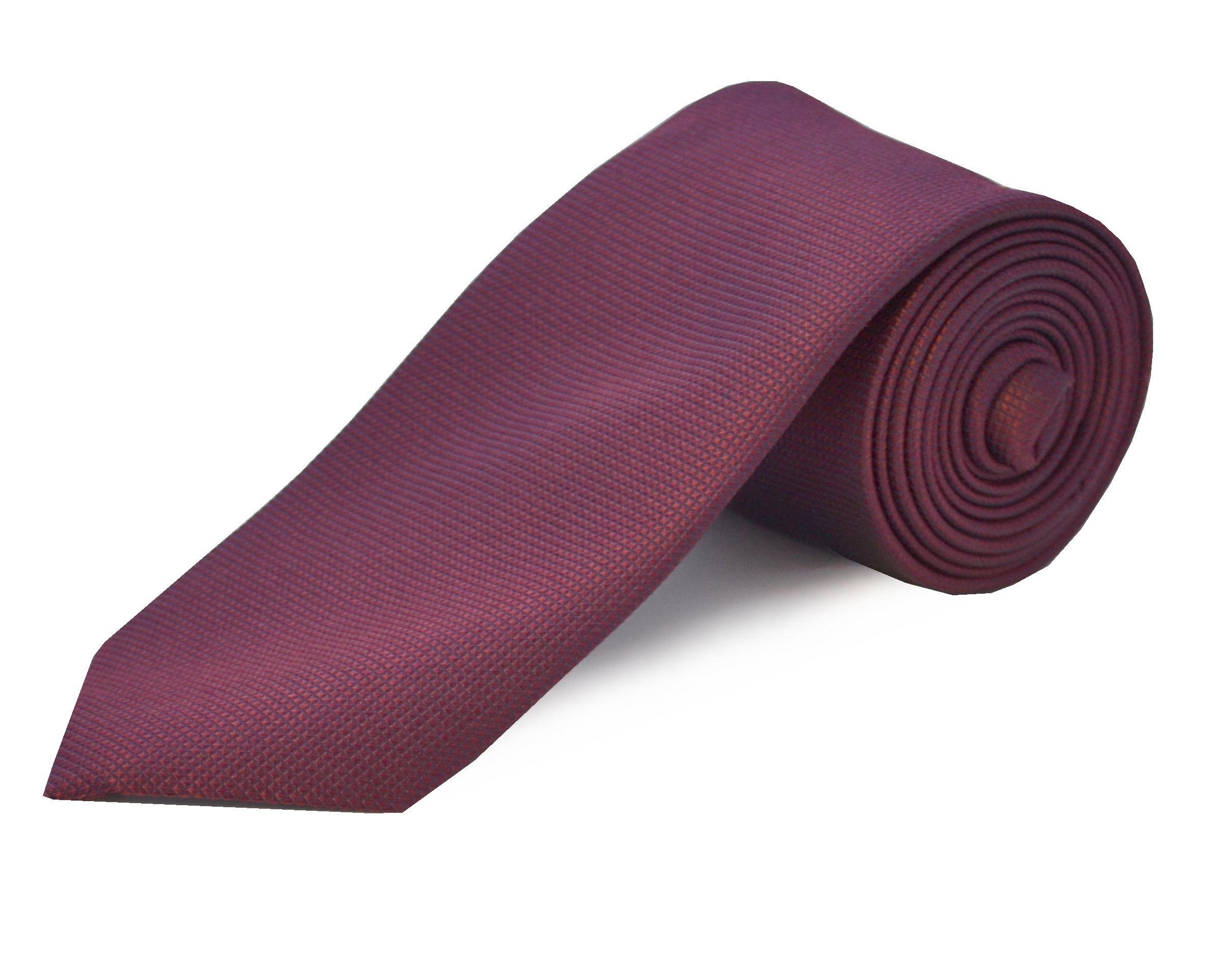 Red Silk Men Tie 5