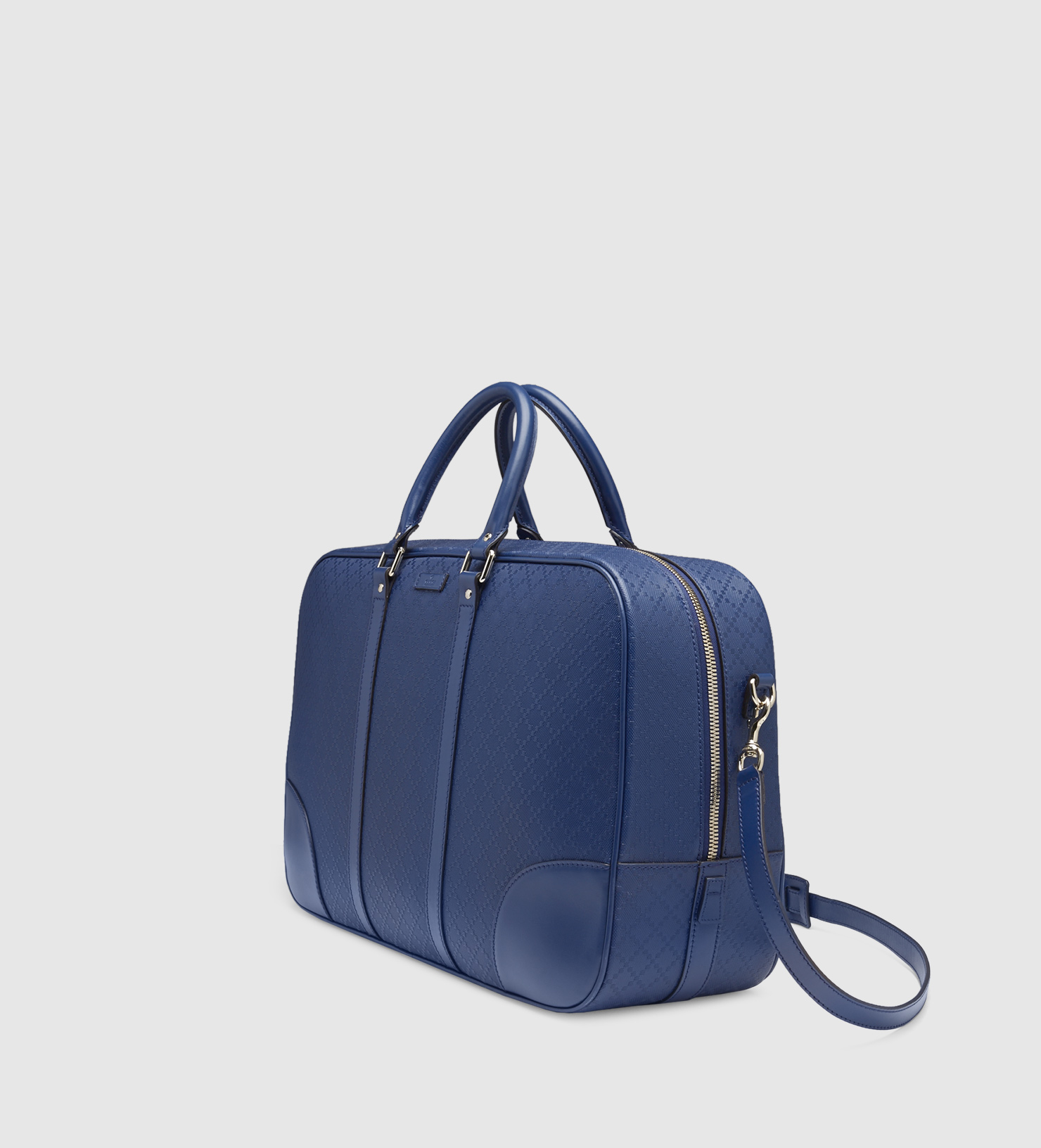 a75d2f7c320 Lyst - Gucci Bright Diamante Leather Duffle Bag in Blue for Men