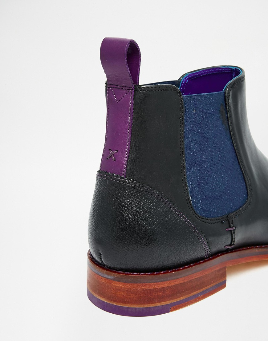 4c299103d Lyst - Ted Baker Camroon Leather Chelsea Boots in Black for Men
