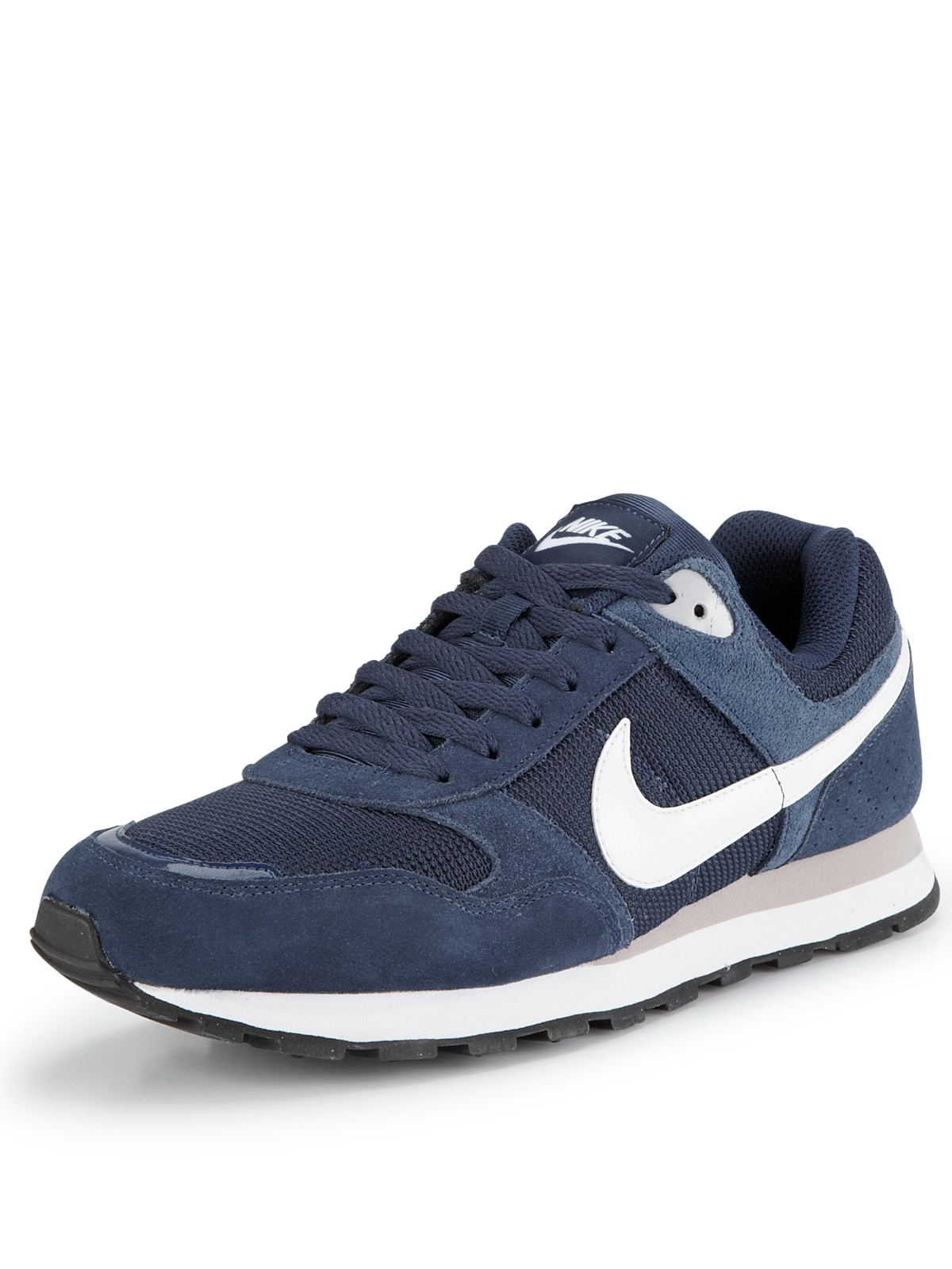 nike nike md runner mens trainers in blue for men navy grey white lyst. Black Bedroom Furniture Sets. Home Design Ideas