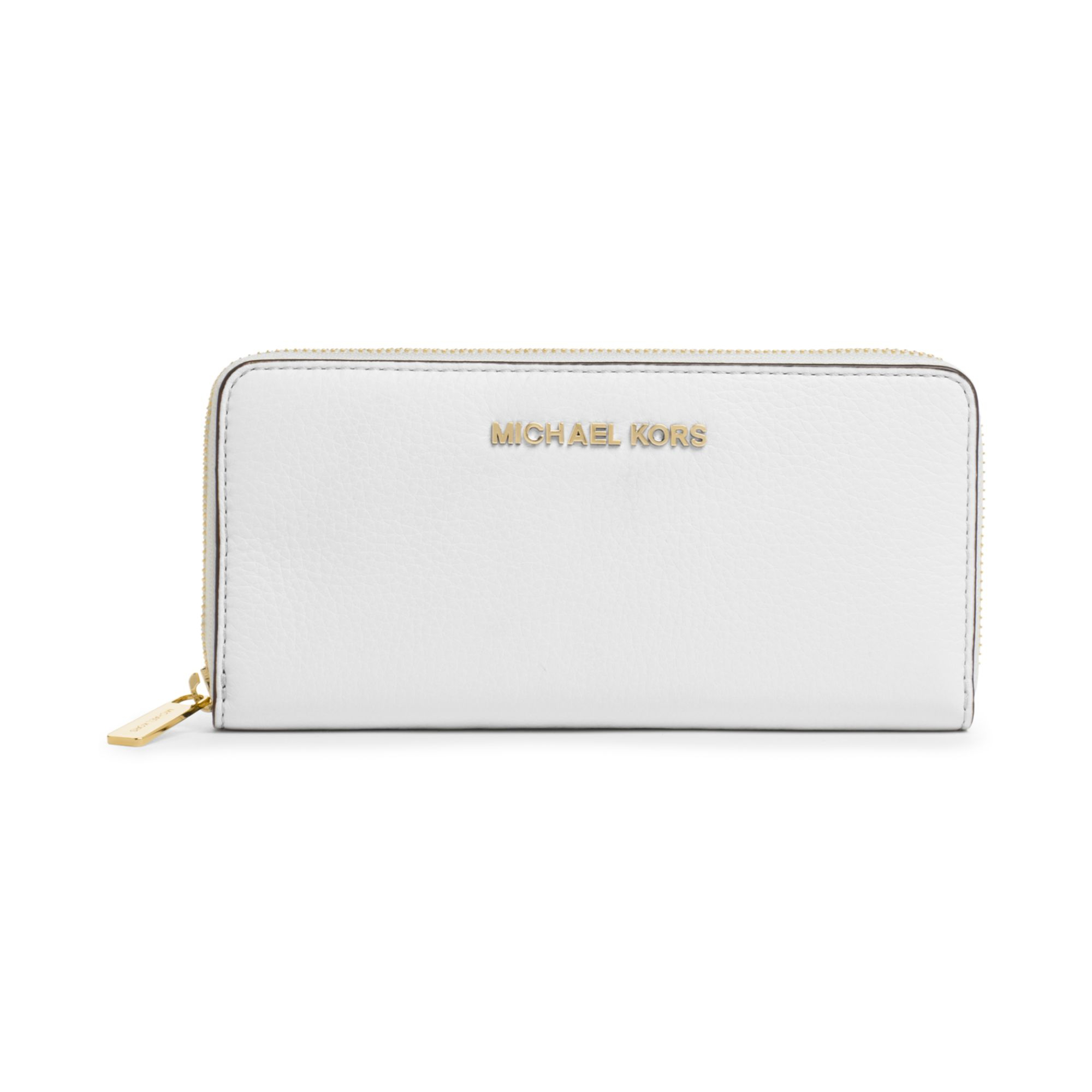 752edecaa387 Michael Kors Bedford Continental Wallet in White - Lyst