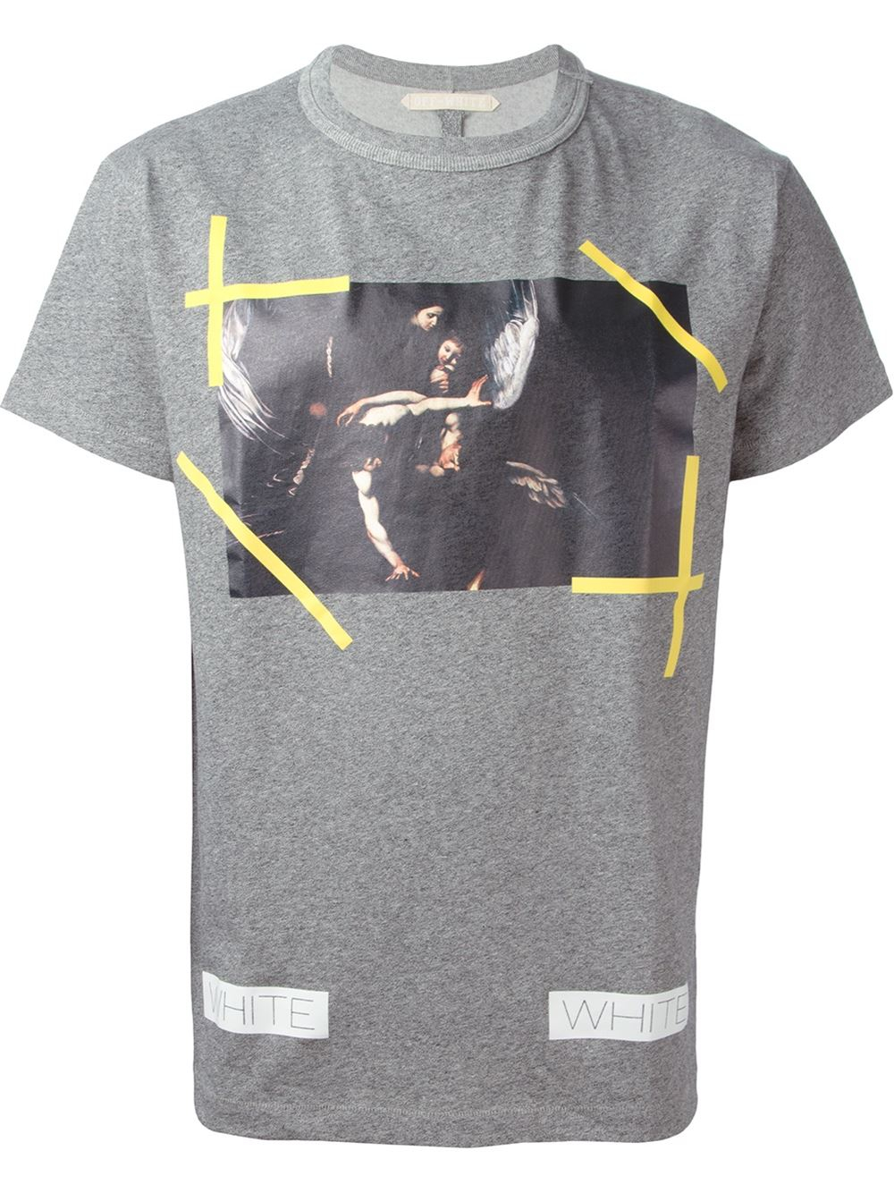 Lyst off white c o virgil abloh printed t shirt in gray for T shirt printing one off