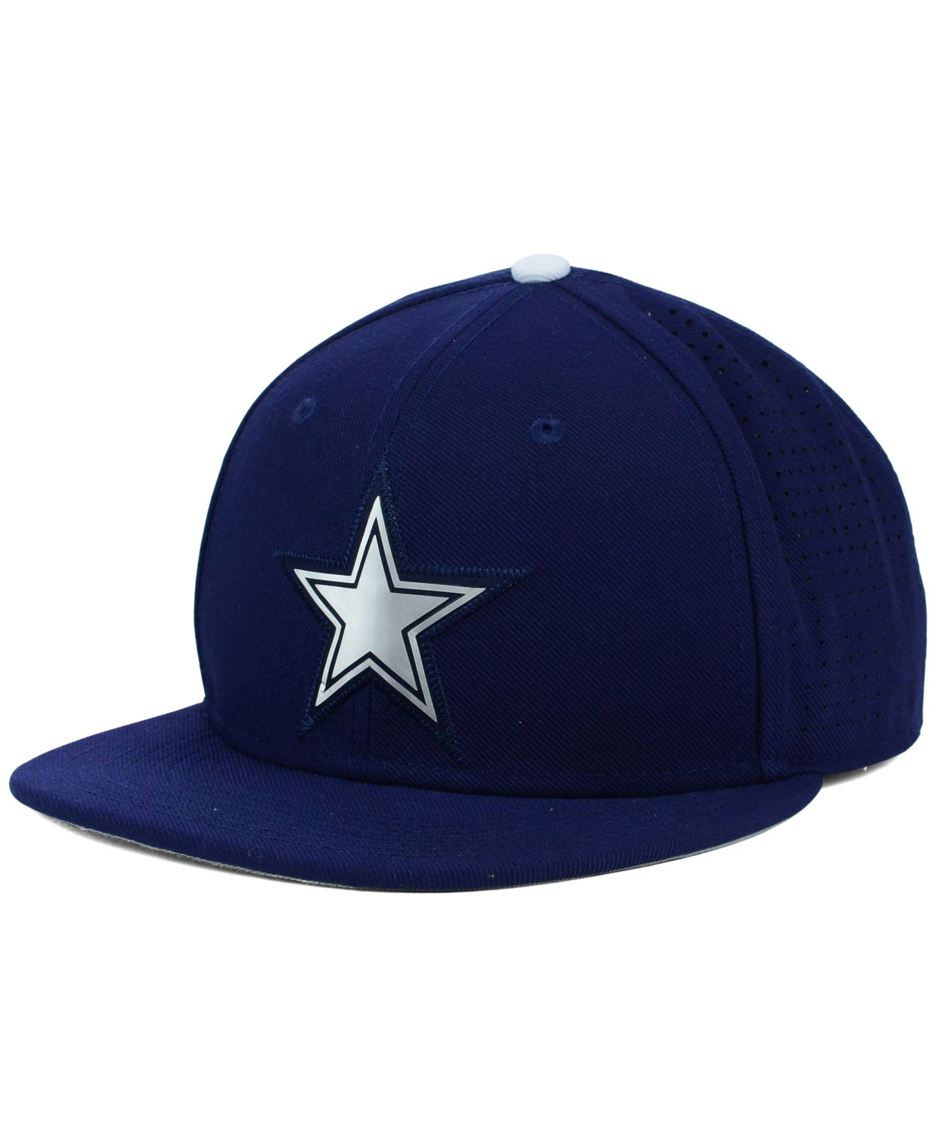 brand new 0fc02 a7d05 ... switzerland lyst nike dallas cowboys true vapor fitted cap in blue for  men dfbee 113b2