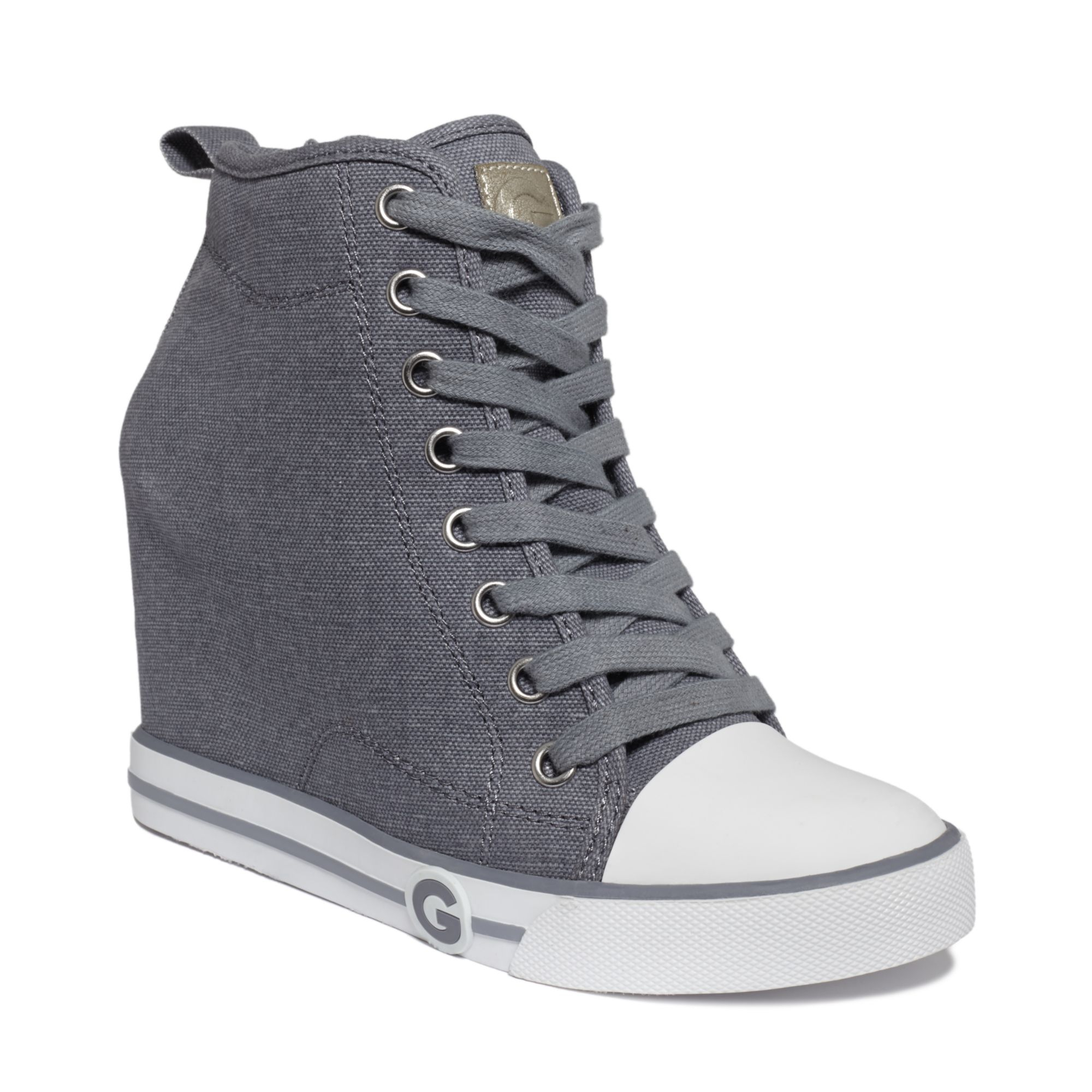 108e4b2abfc Lyst - G by Guess Womens Majestey Wedge High Top Sneakers in Gray