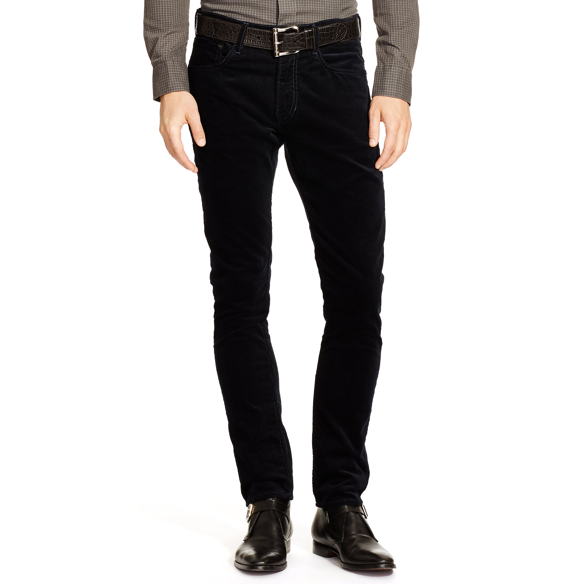 decf81e6ff047b Ralph Lauren Black Label Slim-fit Stretch Corduroy Pant in Blue for ...