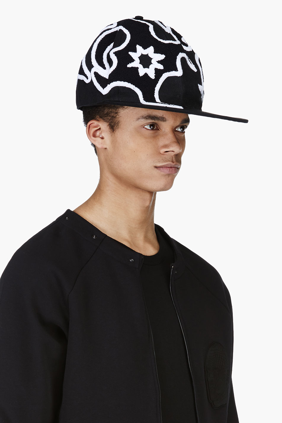 Lyst - KTZ Black Oversize Tattoo Toweling Oversize Cap in Black for Men a5a3b20a3fc