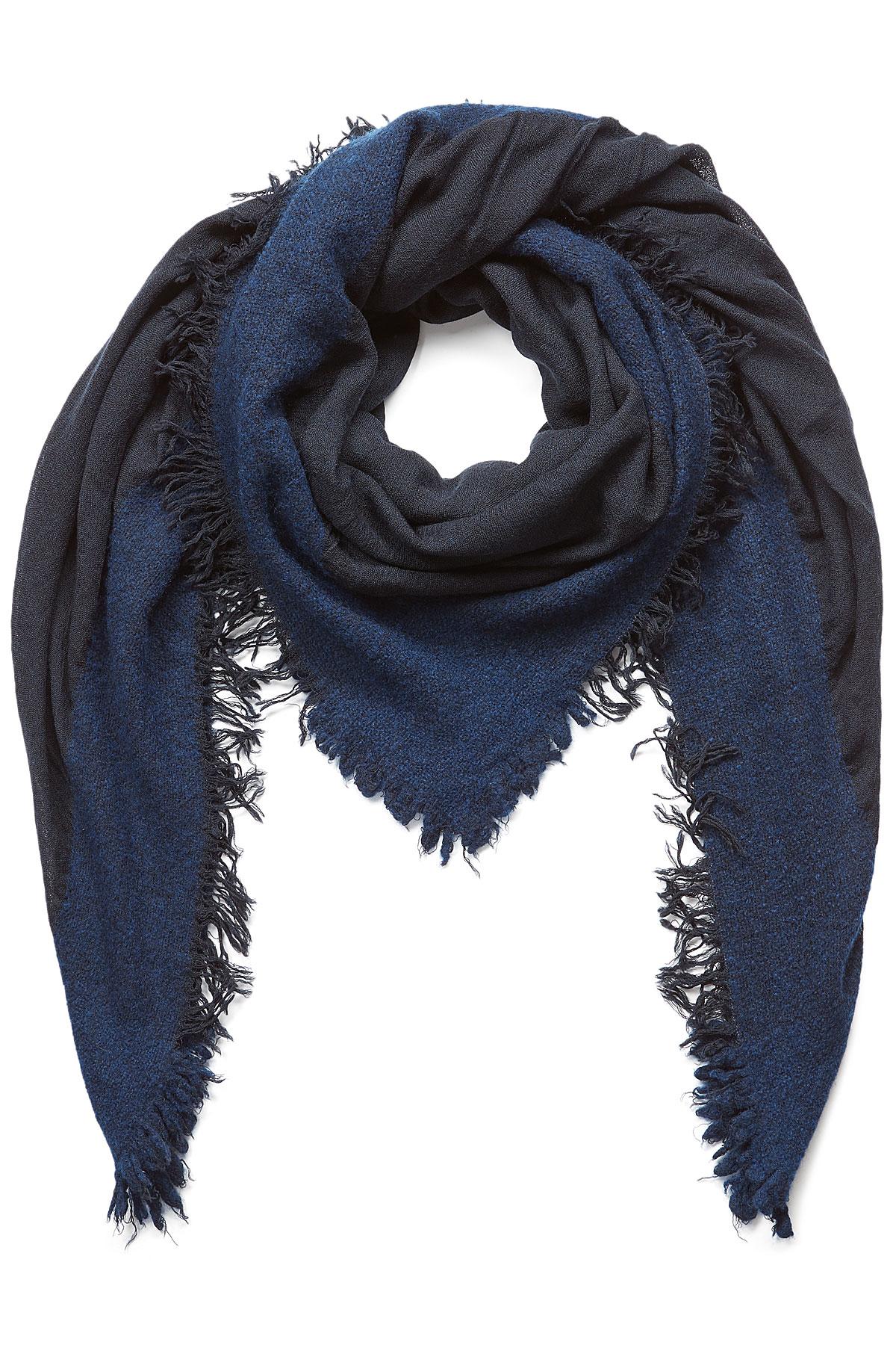 faliero sarti wool silk scarf blue in blue lyst