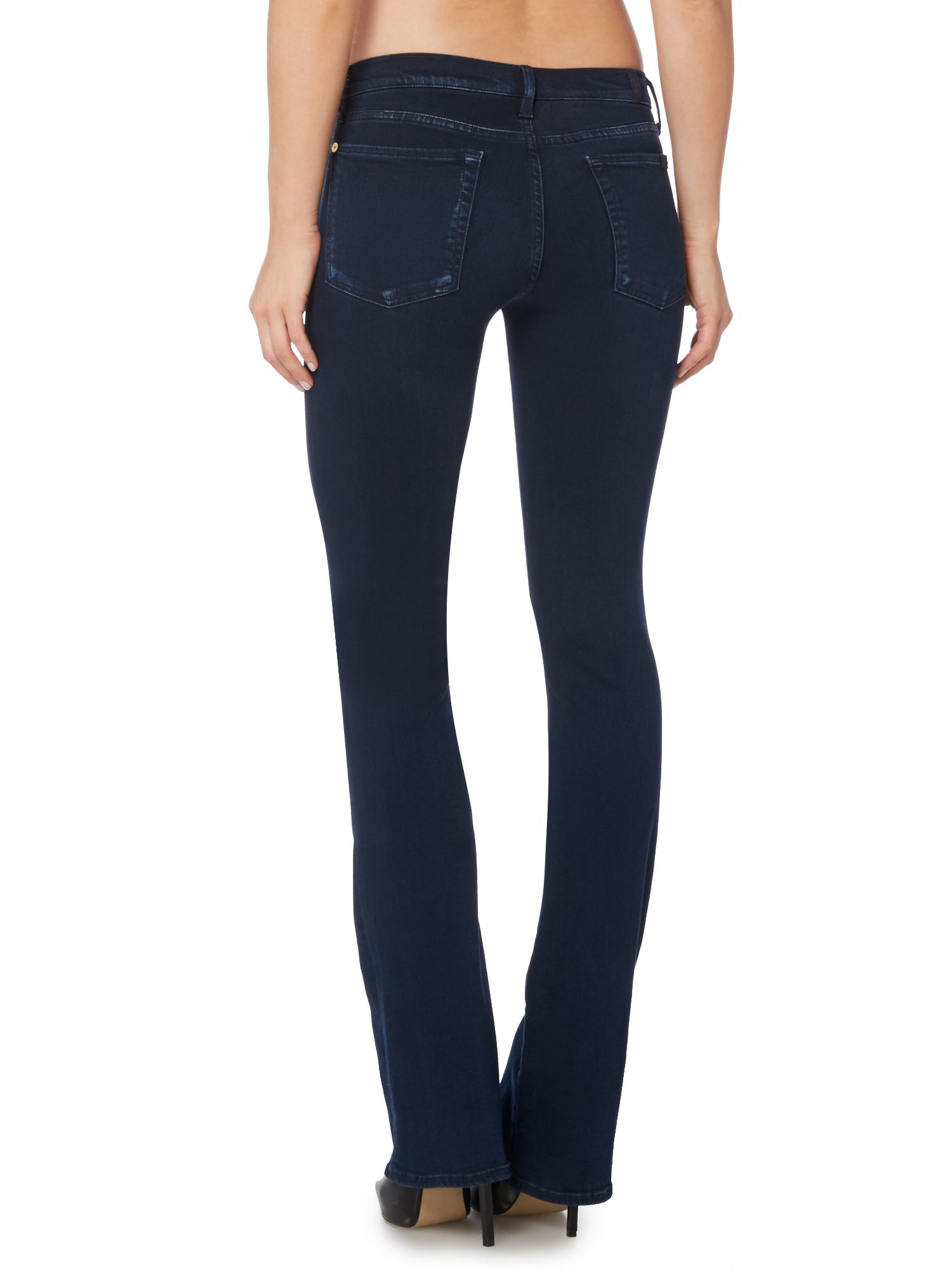 lyst 7 for all mankind slim illusion skinny bootcut jean in rich indigo in blue. Black Bedroom Furniture Sets. Home Design Ideas