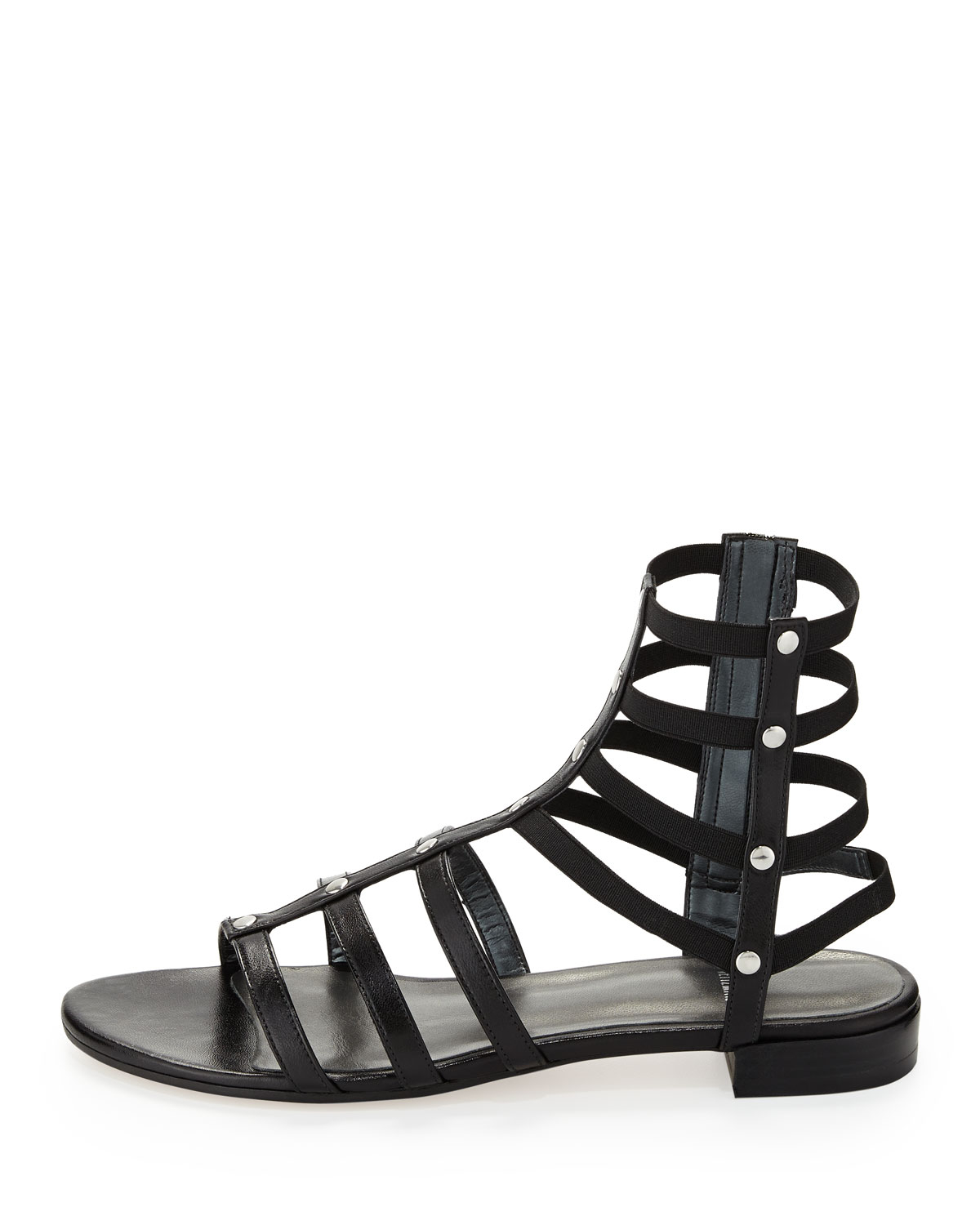 21563ac3f22 Lyst - Stuart Weitzman Caesar Stretch Gladiator Sandal Black Made To ...